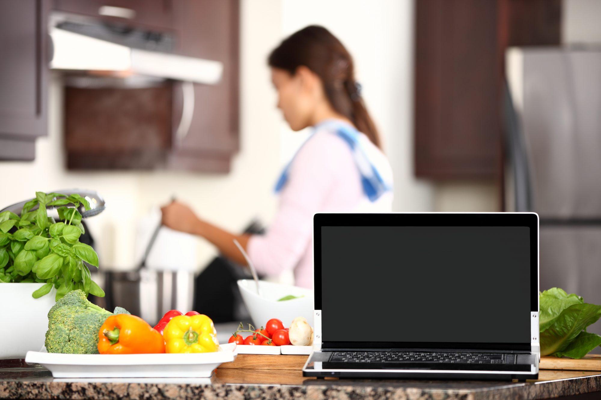 Laptop-in-kitchen