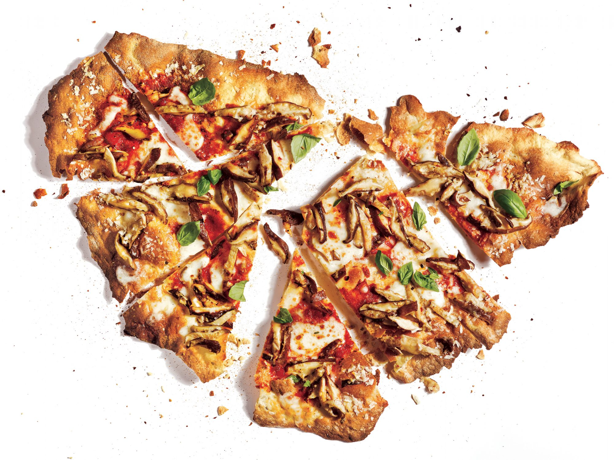 Cracker Crust Mushroom Pizza