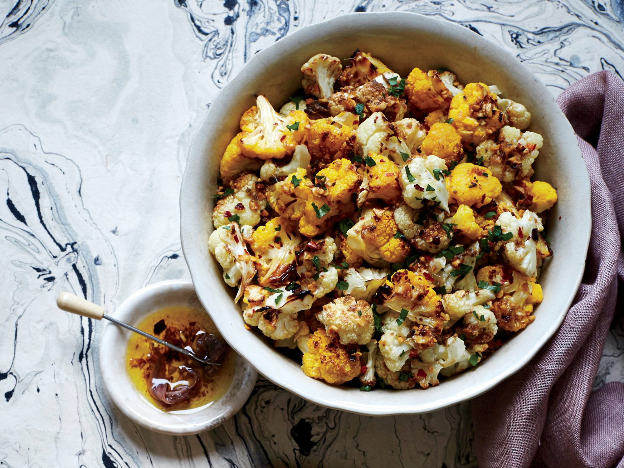 Roasted Cauliflower with Anchovy Sauce