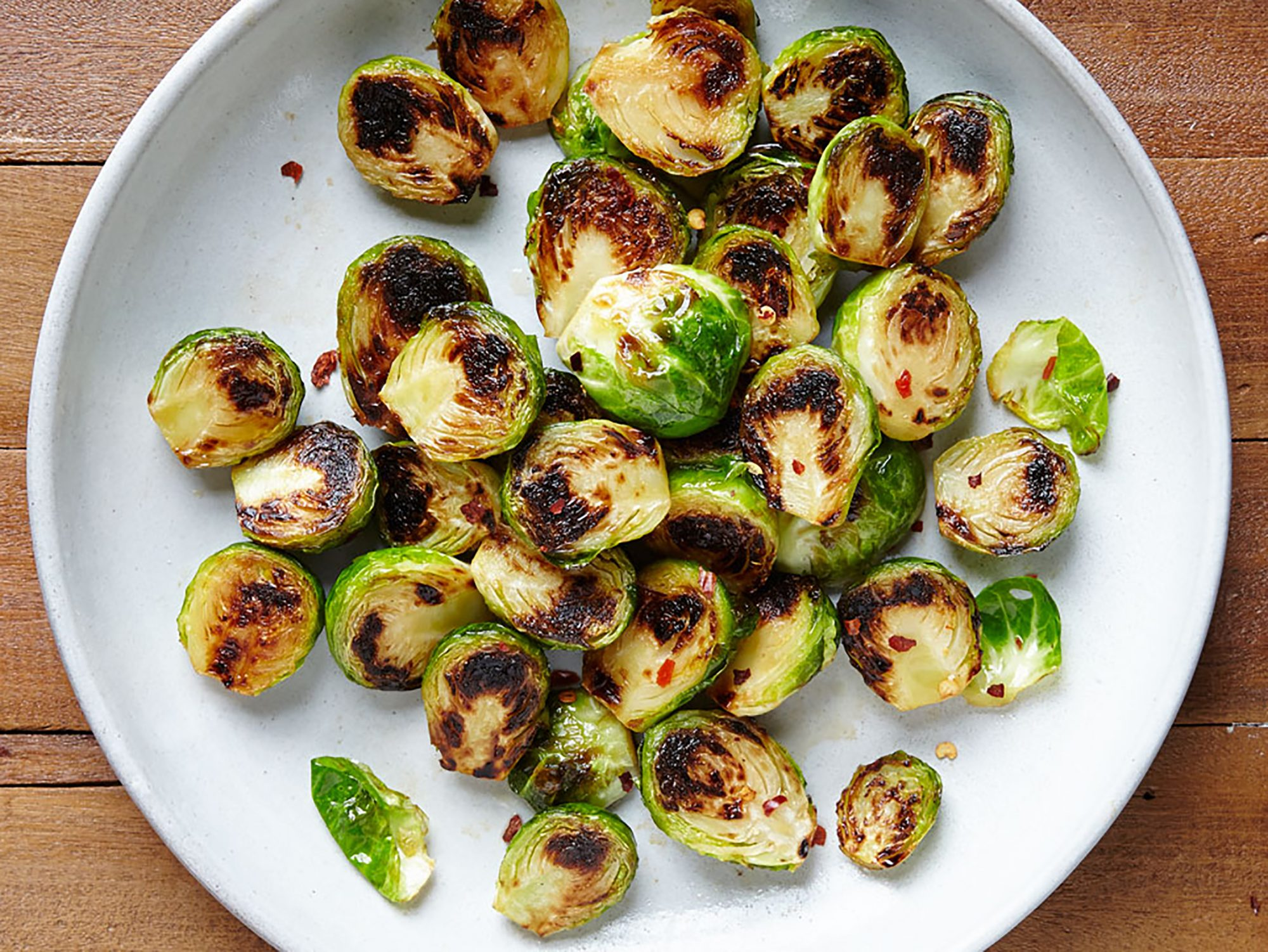 Sweet and Savory Pan Seared Brussels Sprouts