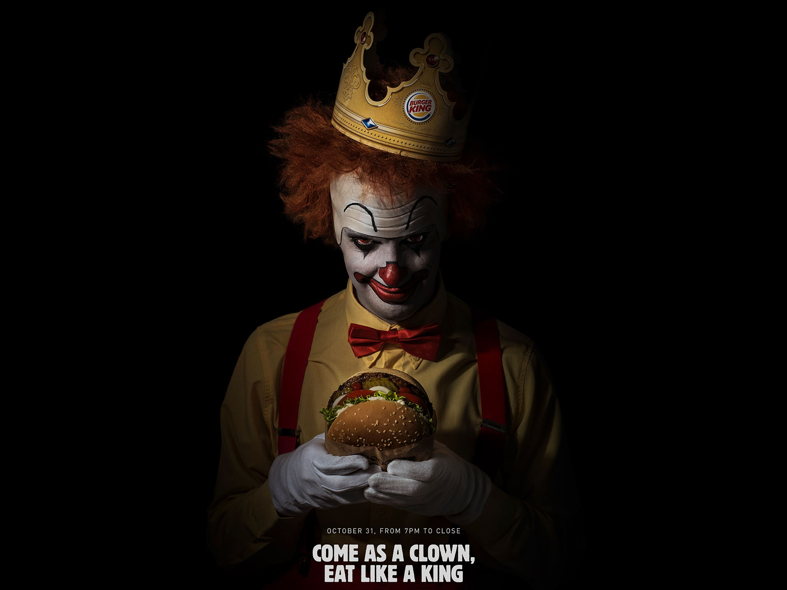 Burger King Is Offering Free Burgers to Scary Clowns, Trolling Its Biggest Rival in the Process