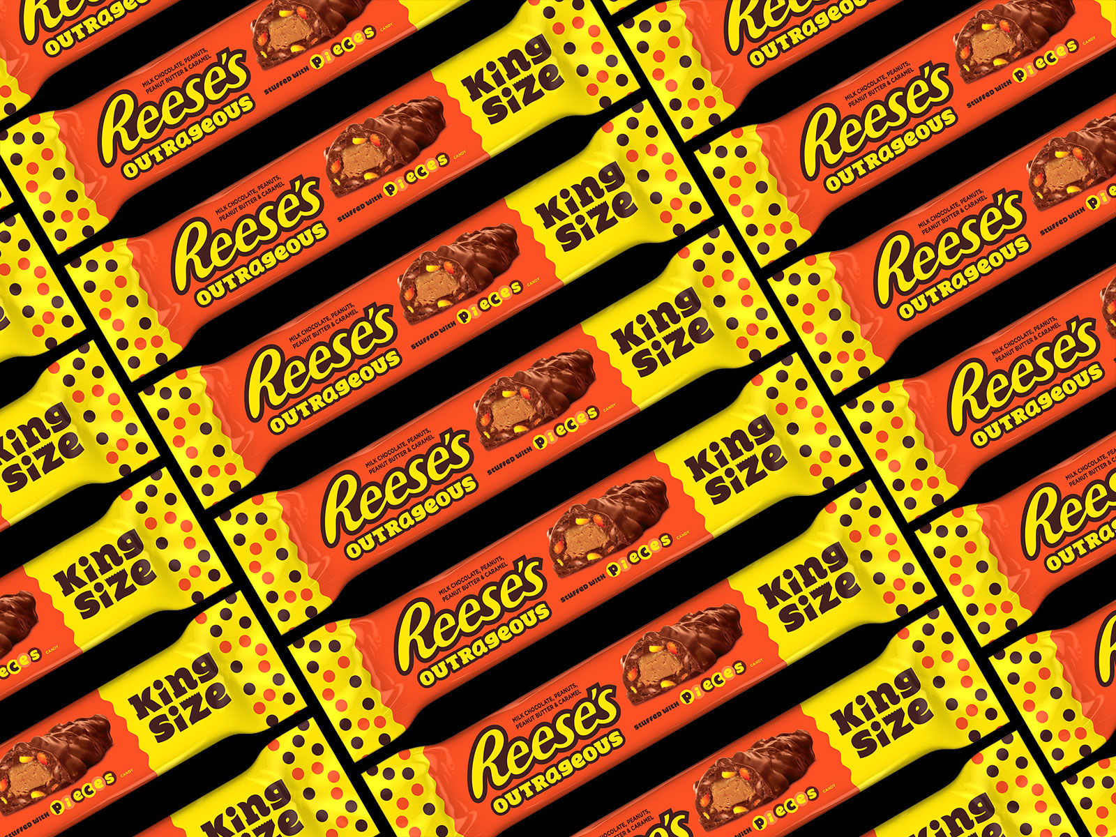 Reese's 'Outrageous' Bar Is Packed With Reese's Pieces and Peanut Butter