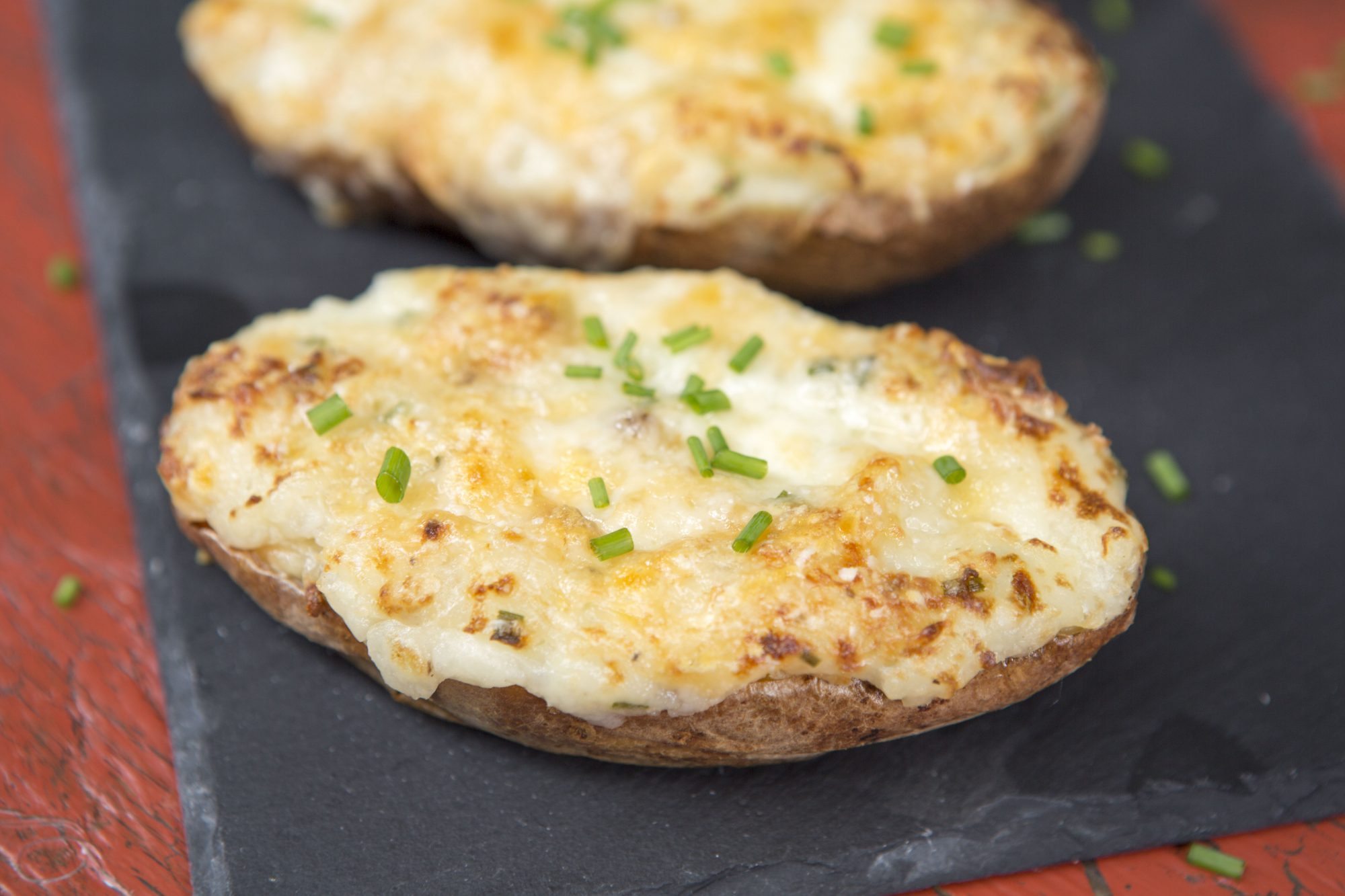 twice baked potatoes baked potatoes with fontina and chives recipe 12446