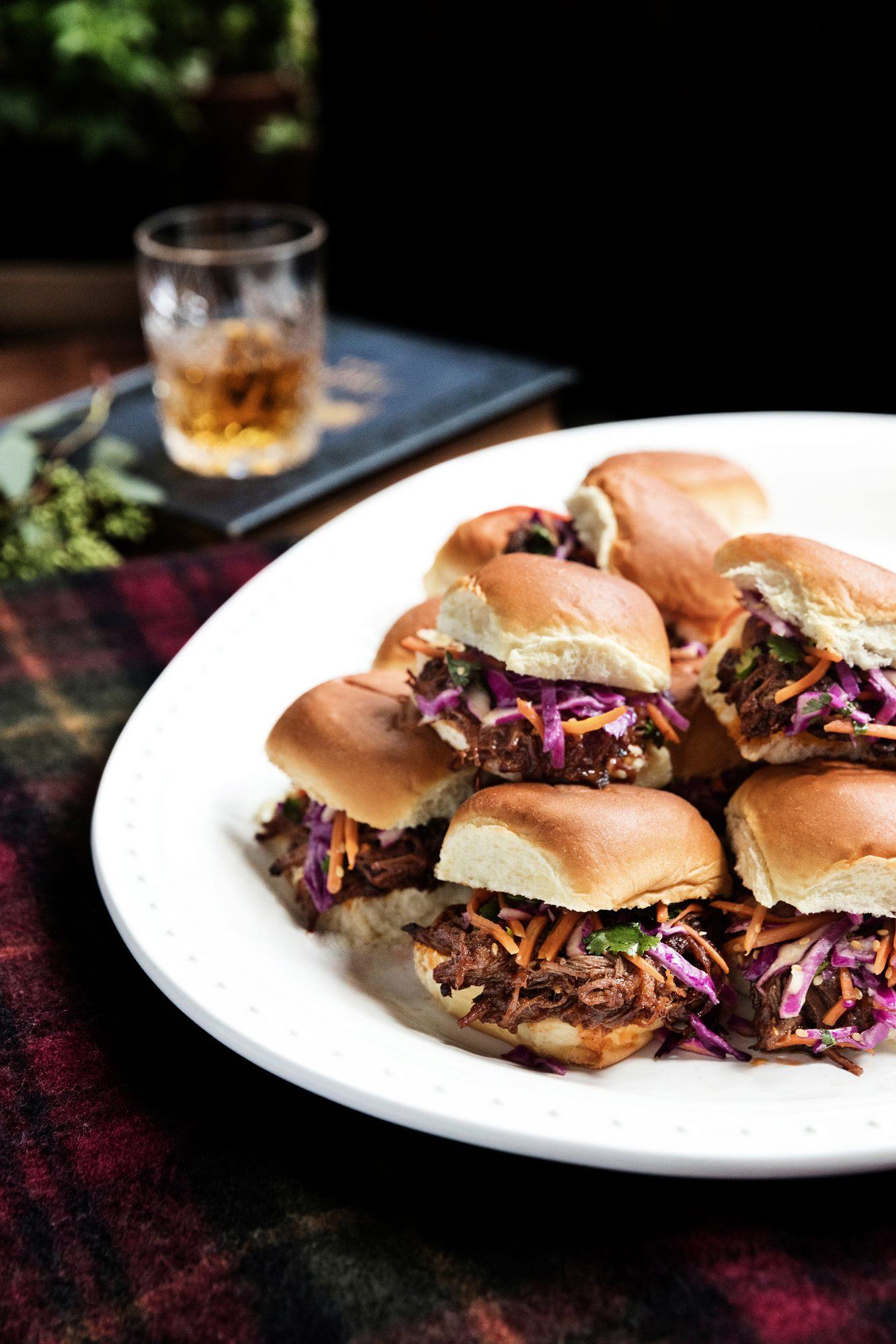 Pulled Brisket Sandwiches with Sesame Slaw