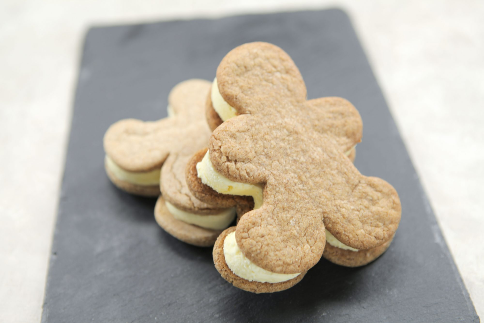 Gingerbread Cookie Eggnog Ice Cream Sandwiches image