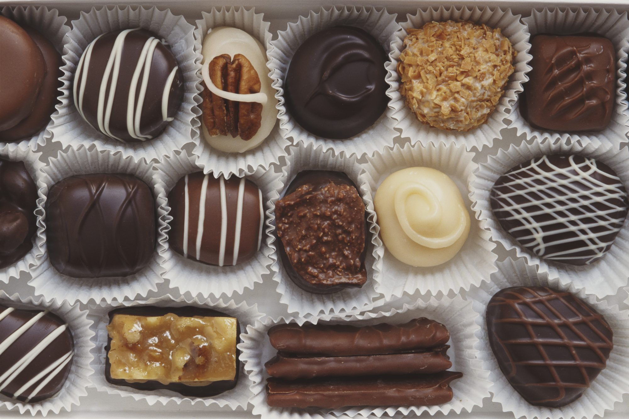 Box of assorted chocolate
