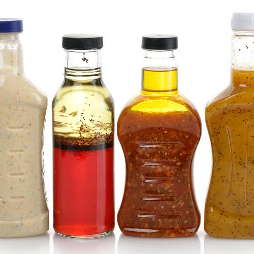 Salad Dressings in Plastic Bottles