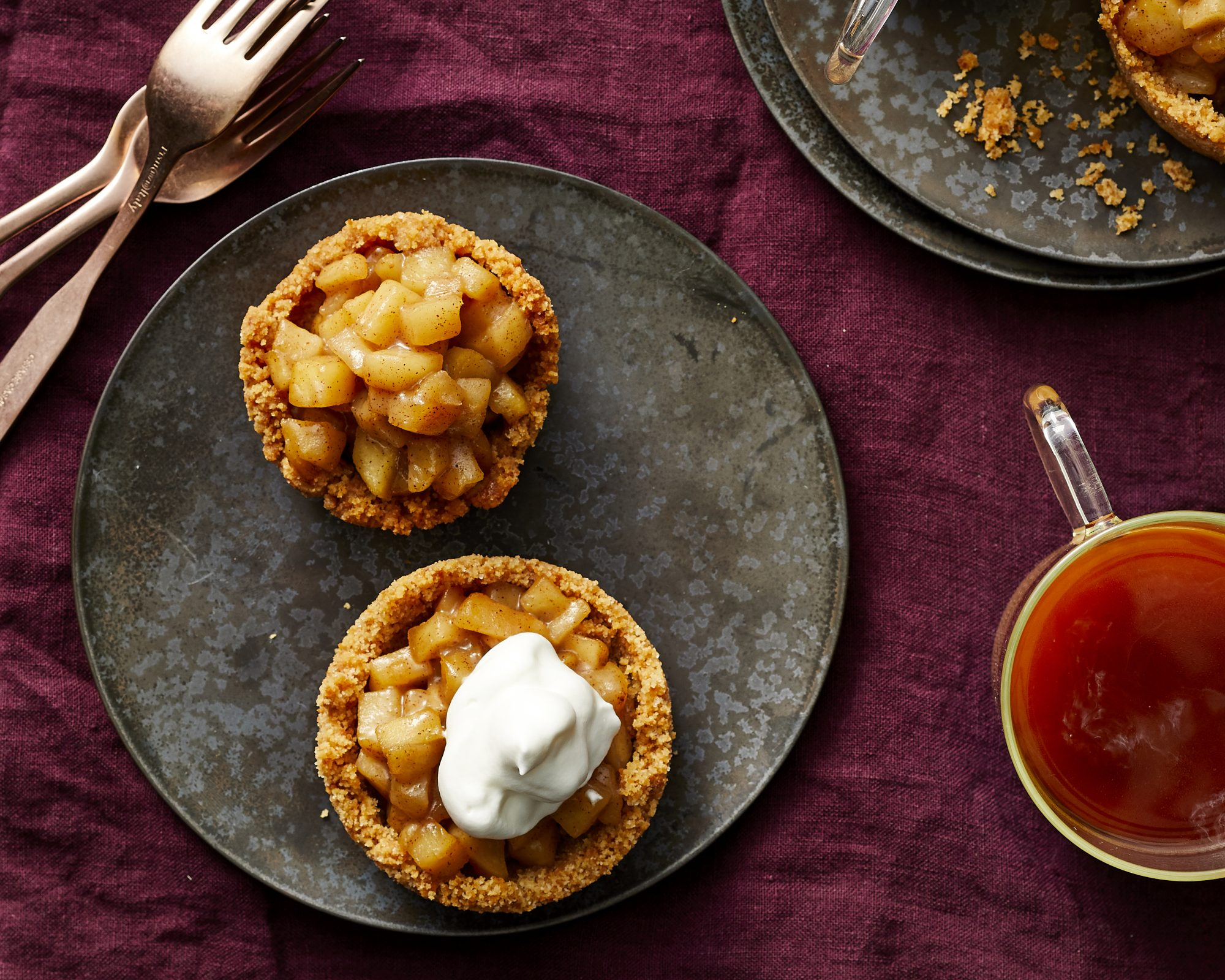 Mini Apple Pies with Whipped Mascarpone image