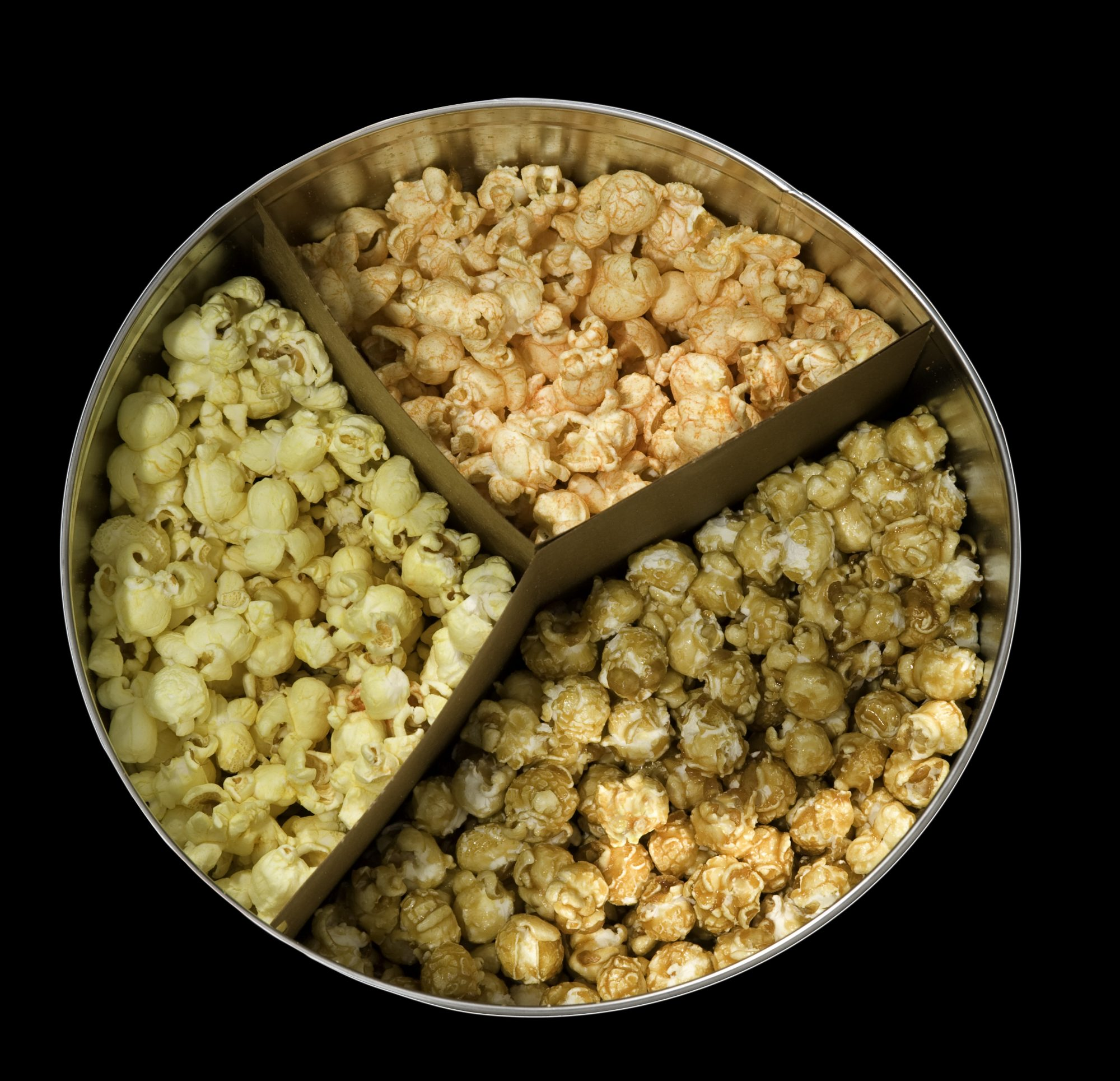 Popcorn tin from top