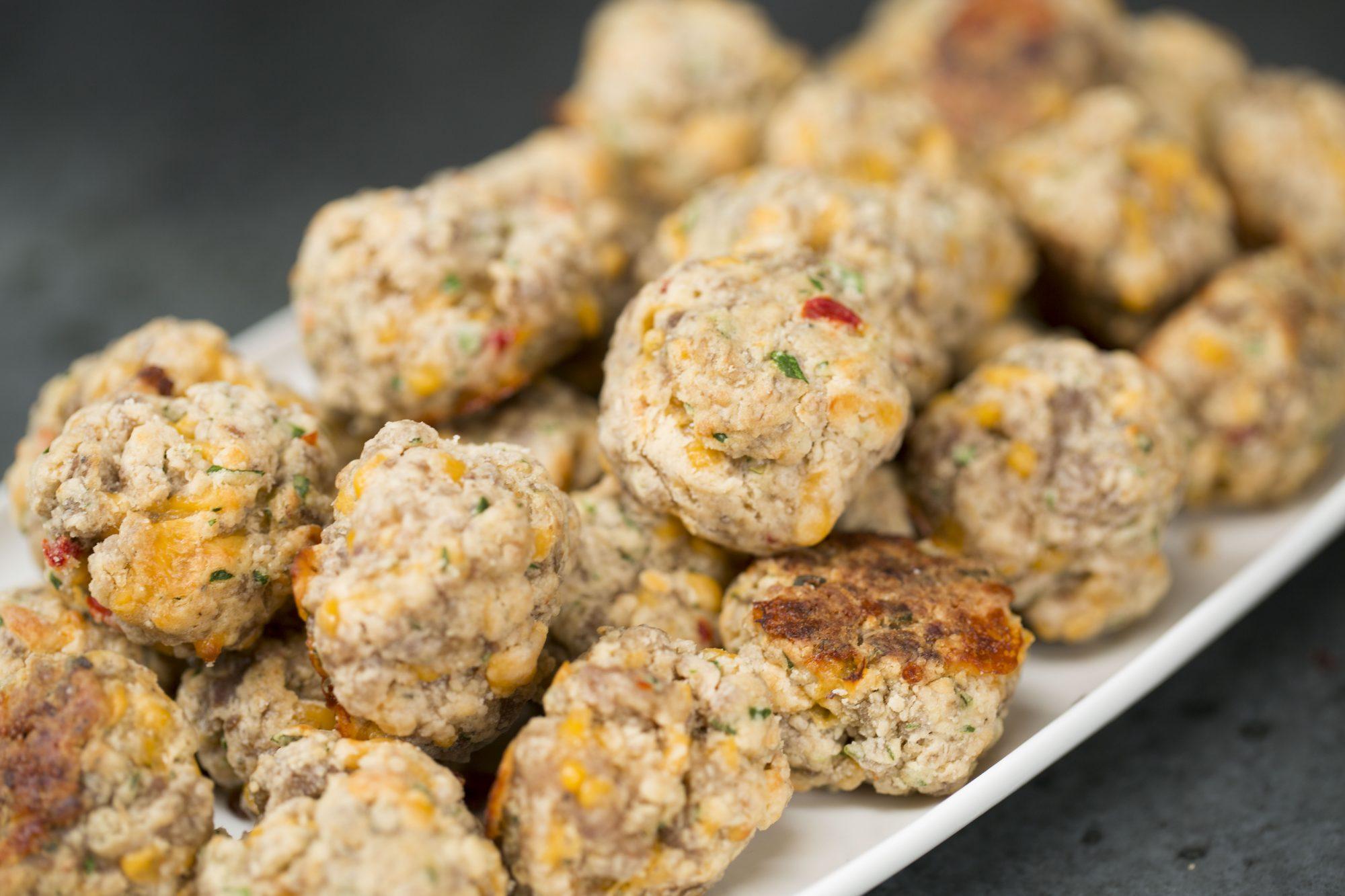 Spicy Pimiento Cheese Sausage Balls image