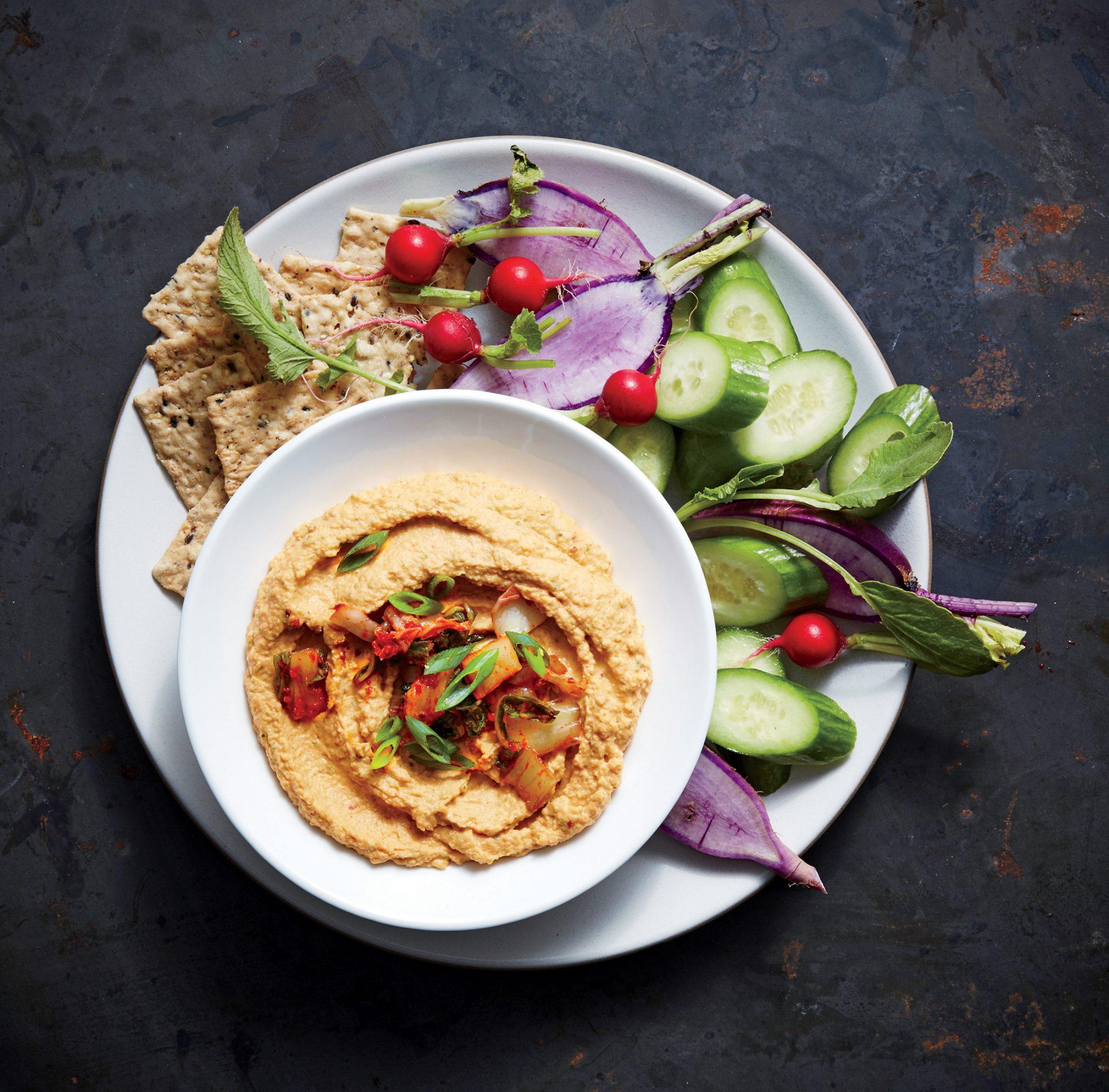 Kimchi-Sesame Hummus