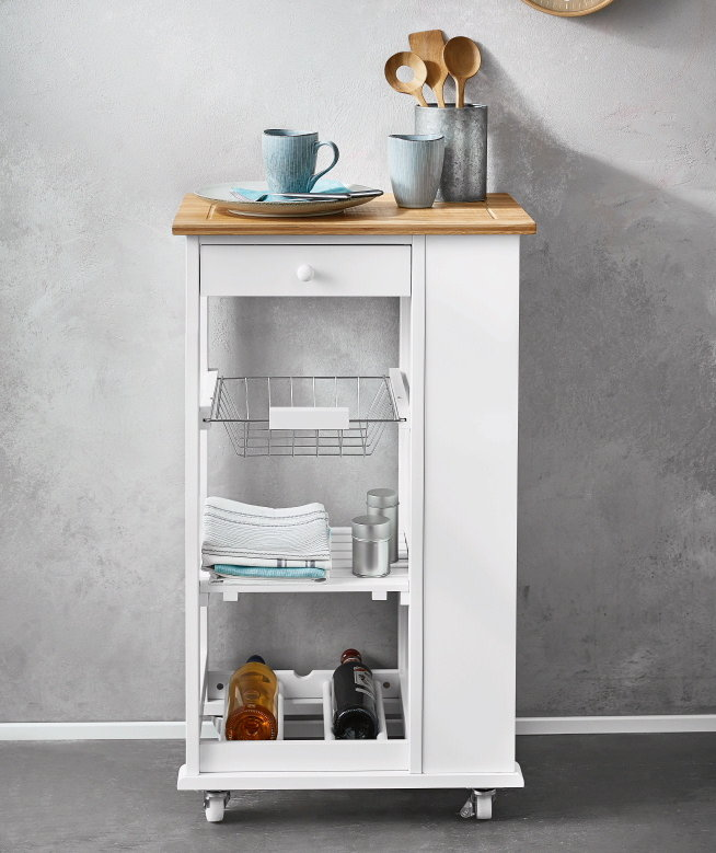 Lidl's New Kitchen Cart Has a Built-In Wine Rack—And It's Only $50