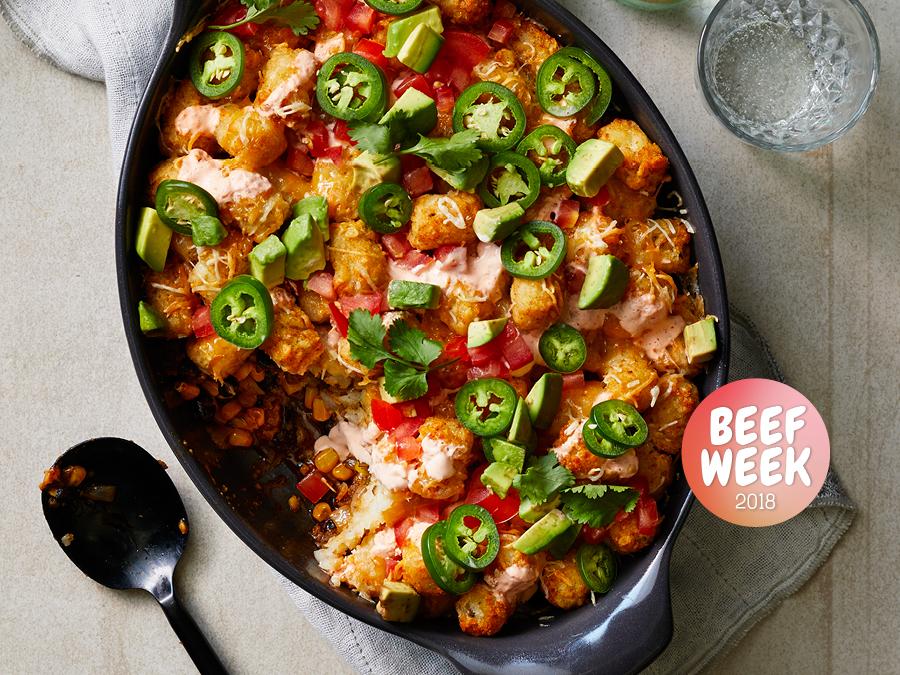 Beef Week Day 6: Taco-Tot Casserole