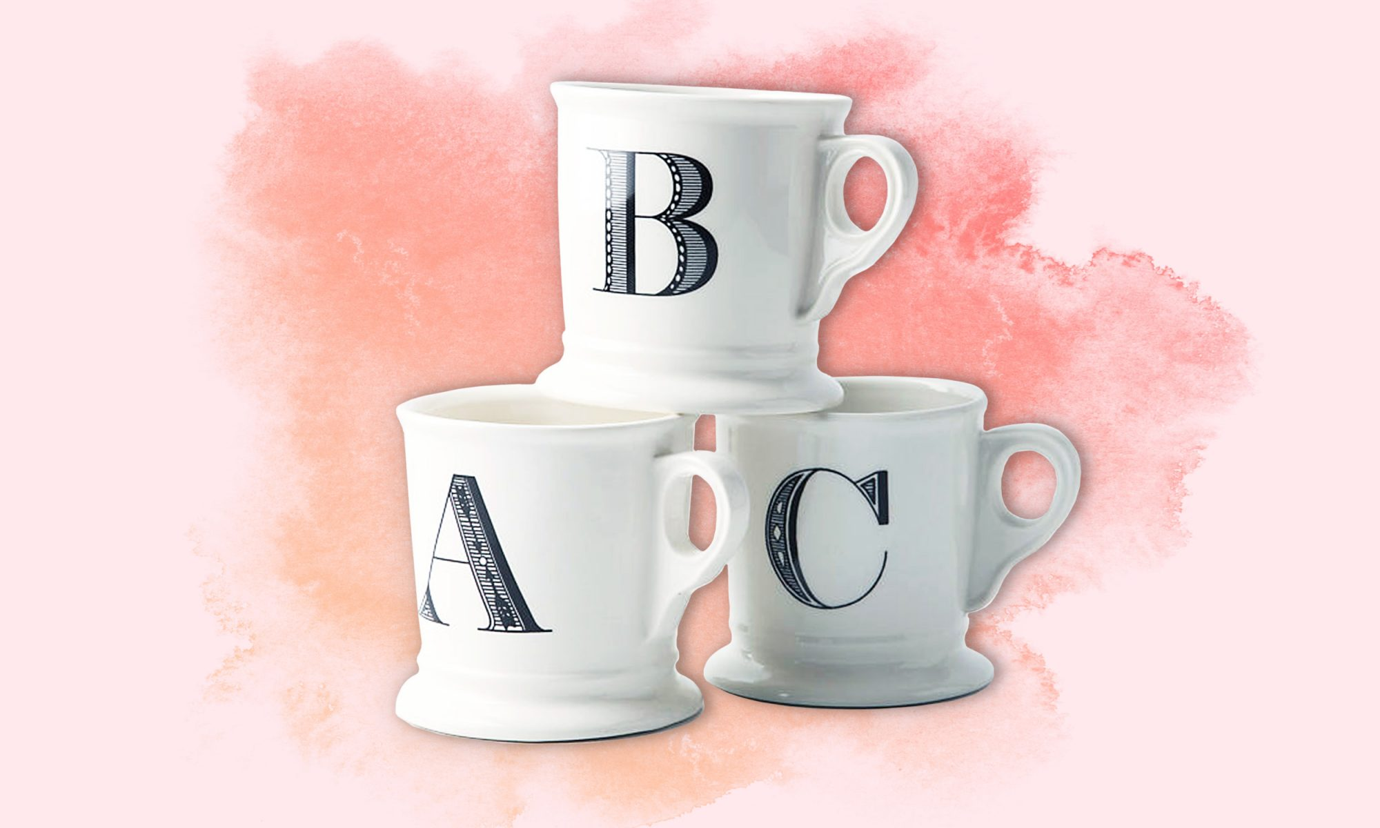 anthropologie monogrammed mug
