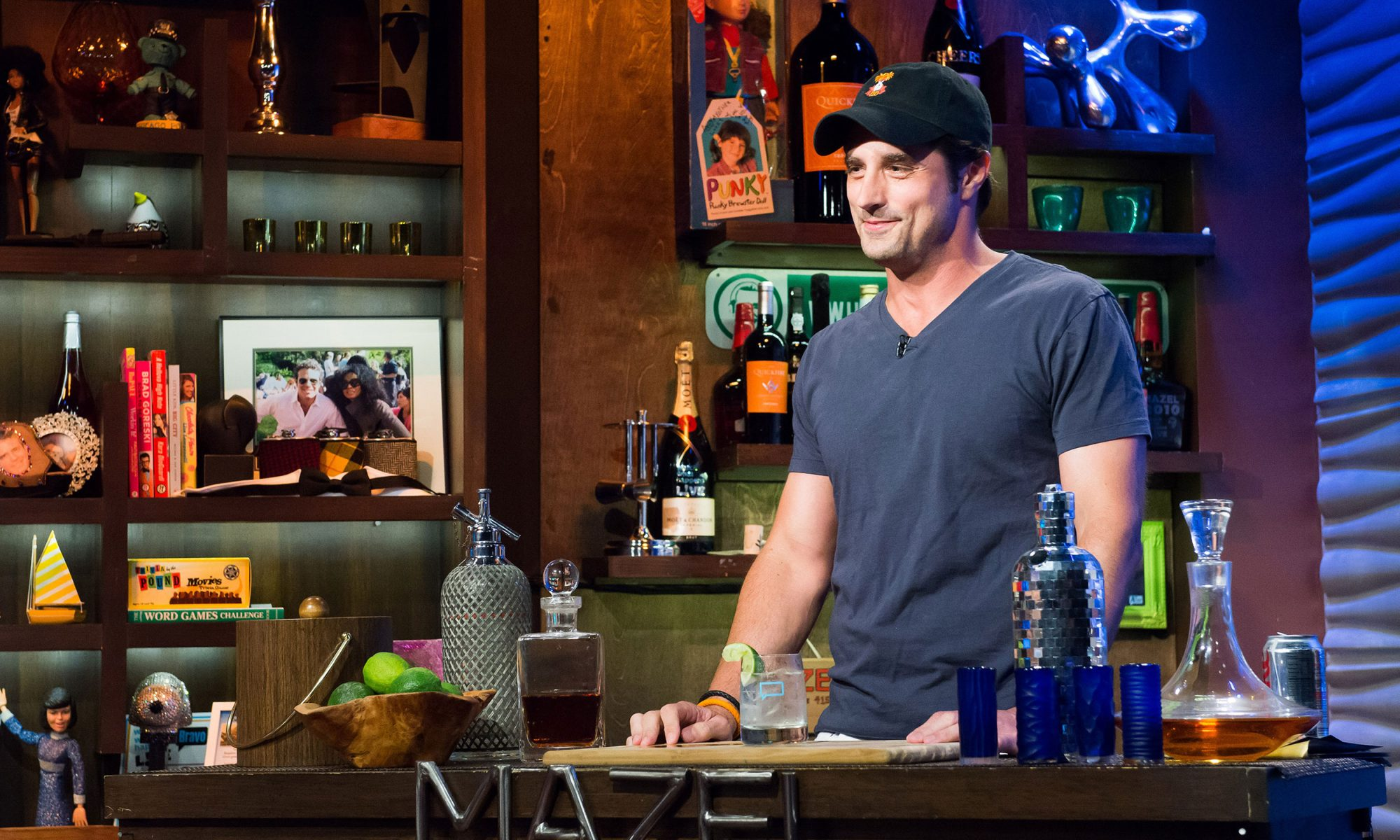Former Bachelor contestant behind a bar