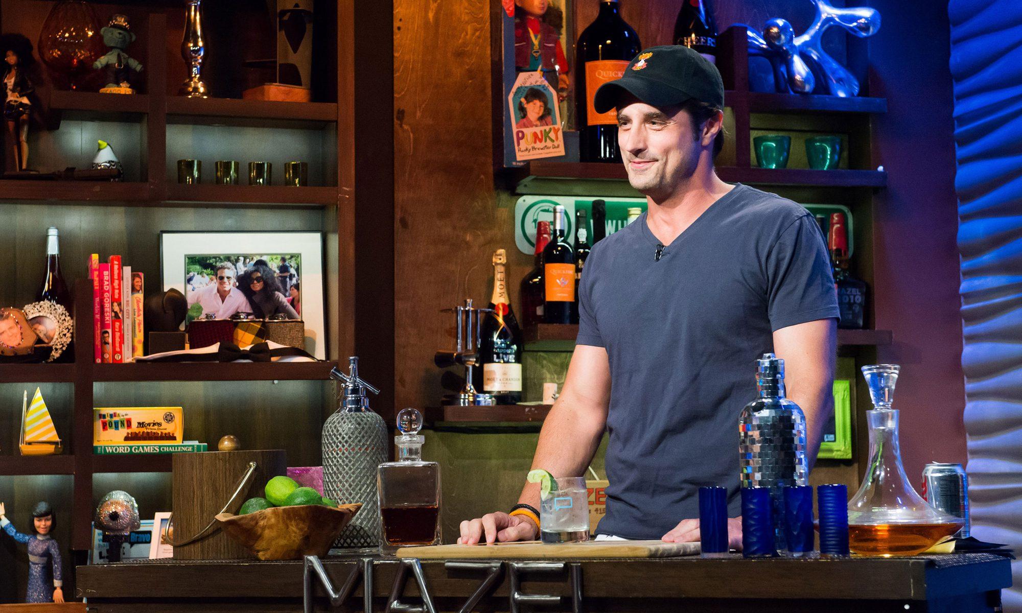Former Bachelor contestant behind a bar
