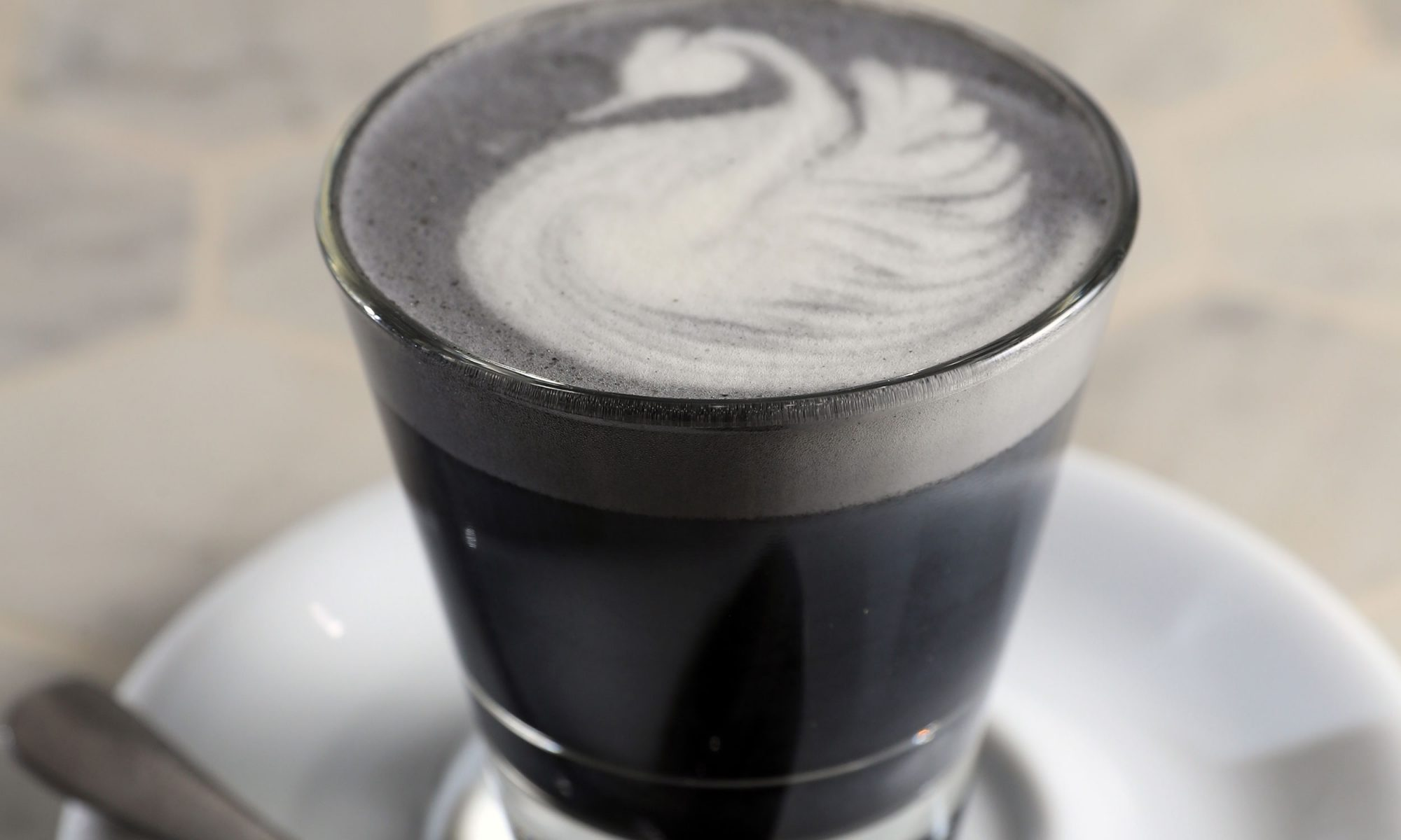 black sesame latte