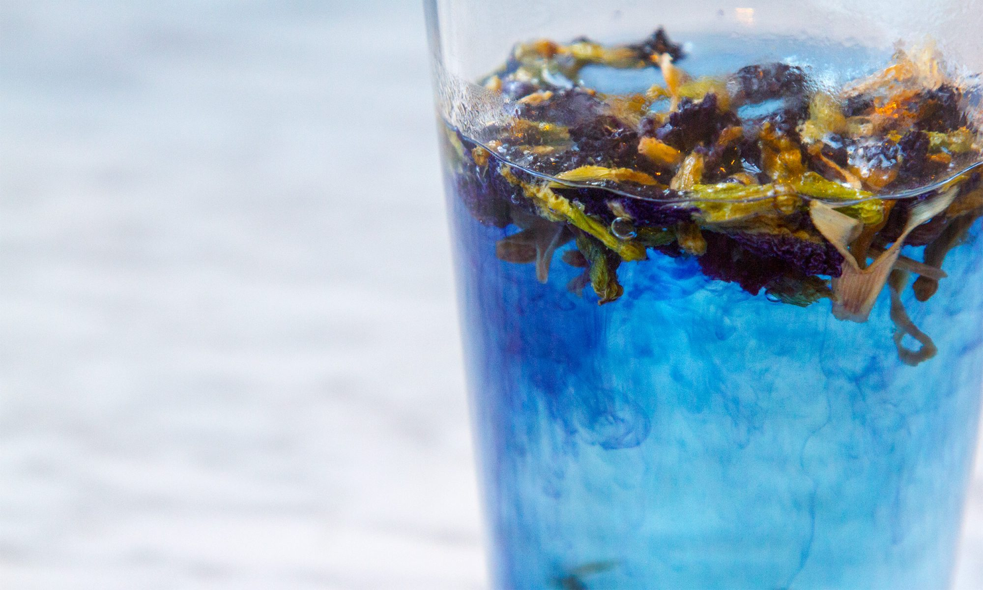 EC: Color-Changing Butterfly Pea Flower Tea Is a Mood Ring in a Glass