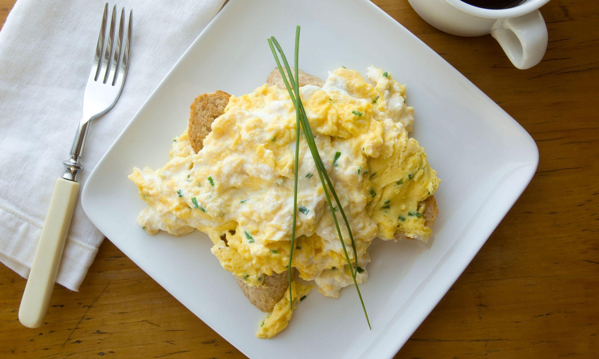 boiled scrambled eggs