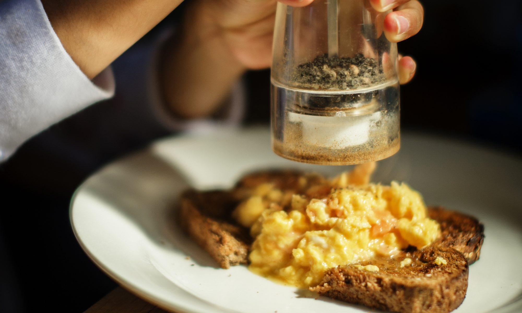 cacio e pepe scrambled eggs