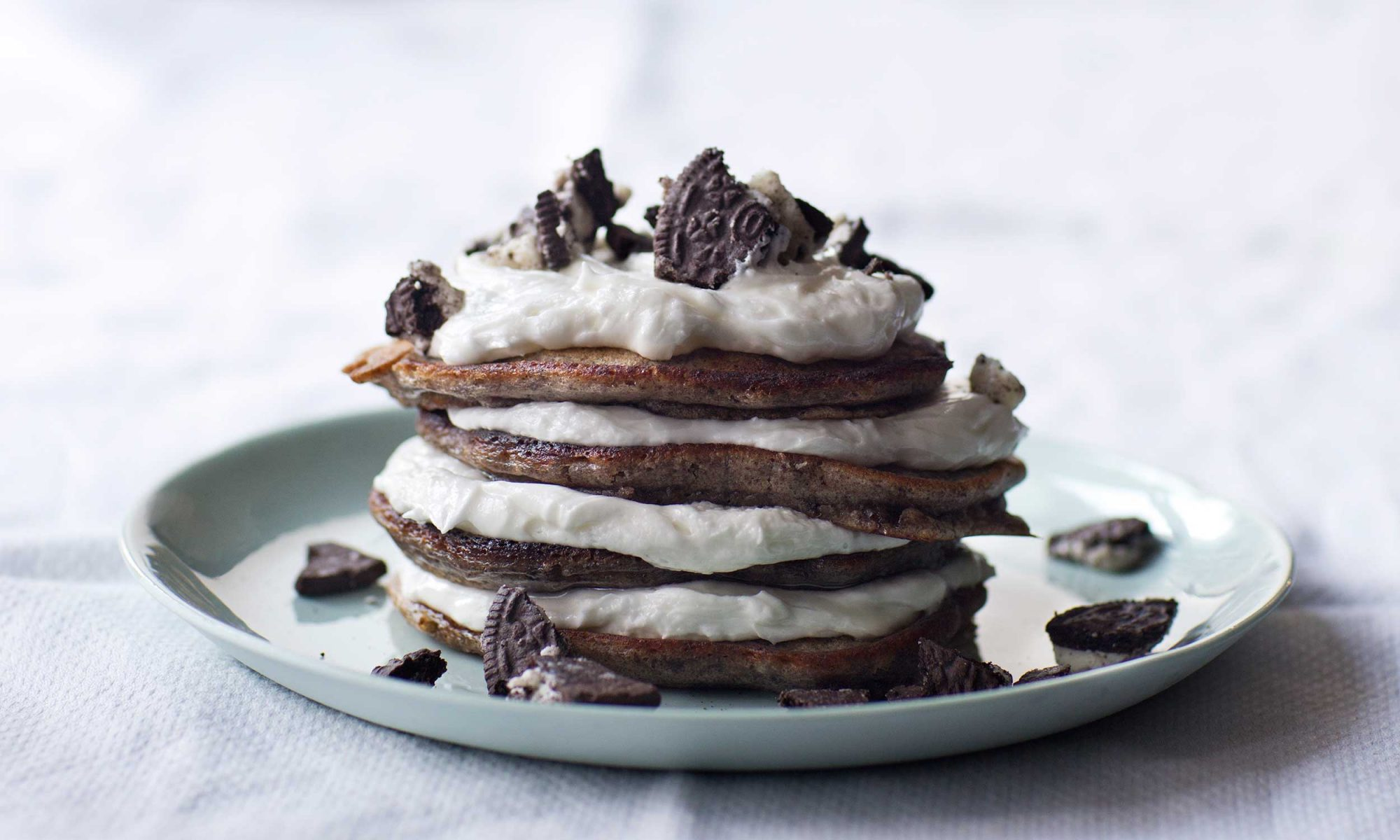 Chris Santos's Oreo Pancake Recipe Is a Brunch-Party Pleaser