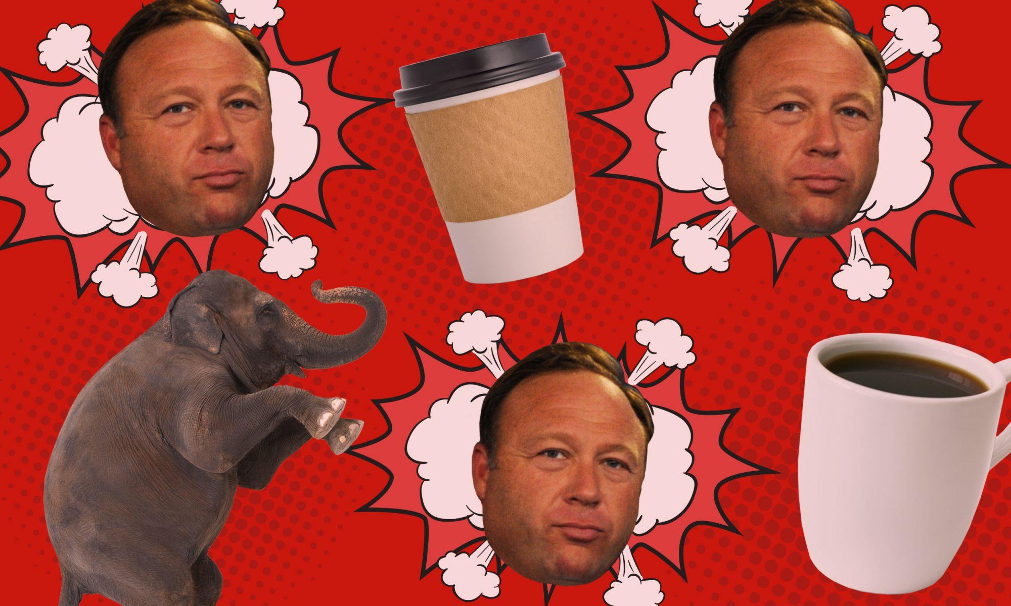 coffee and alex jones
