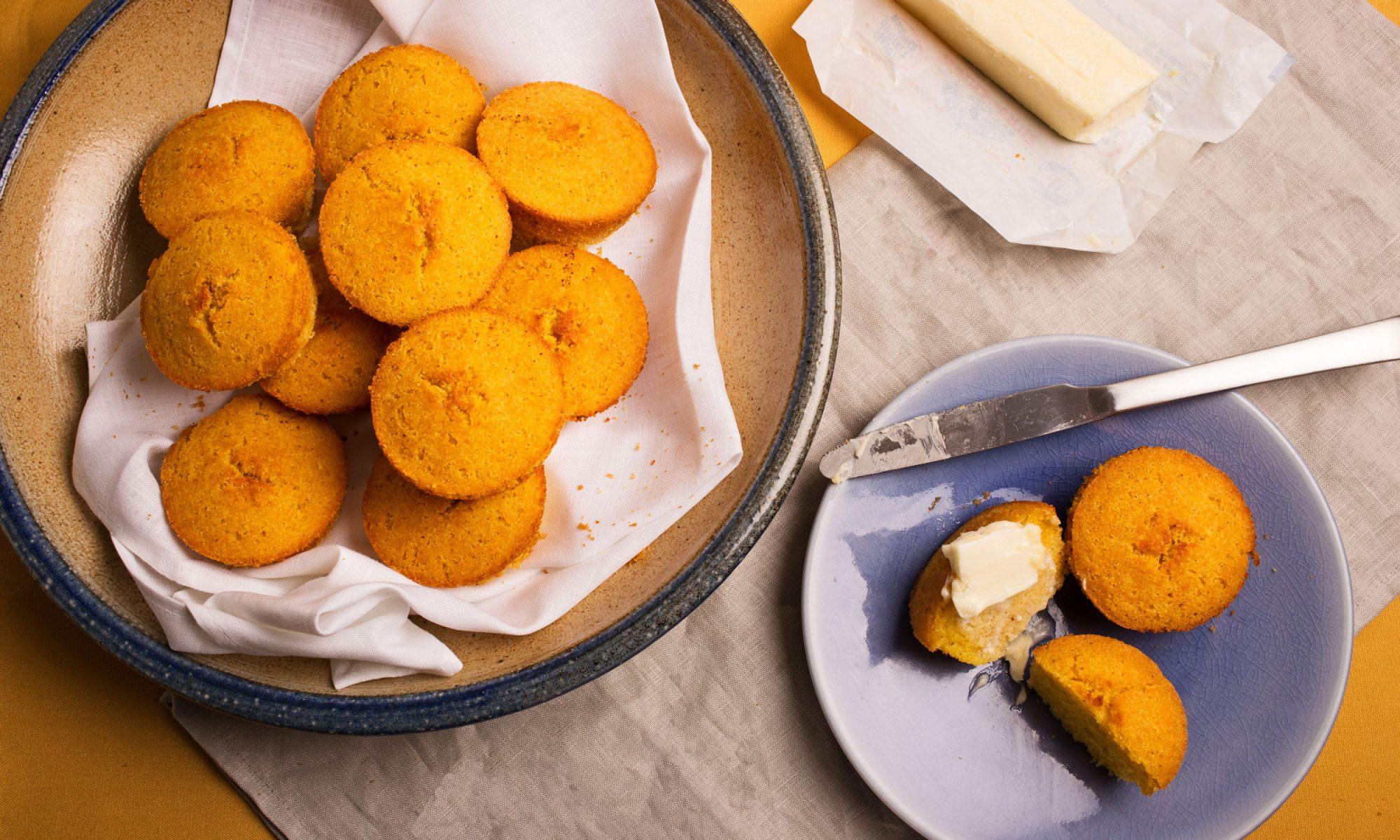 Brown Butter Cornbread Muffins