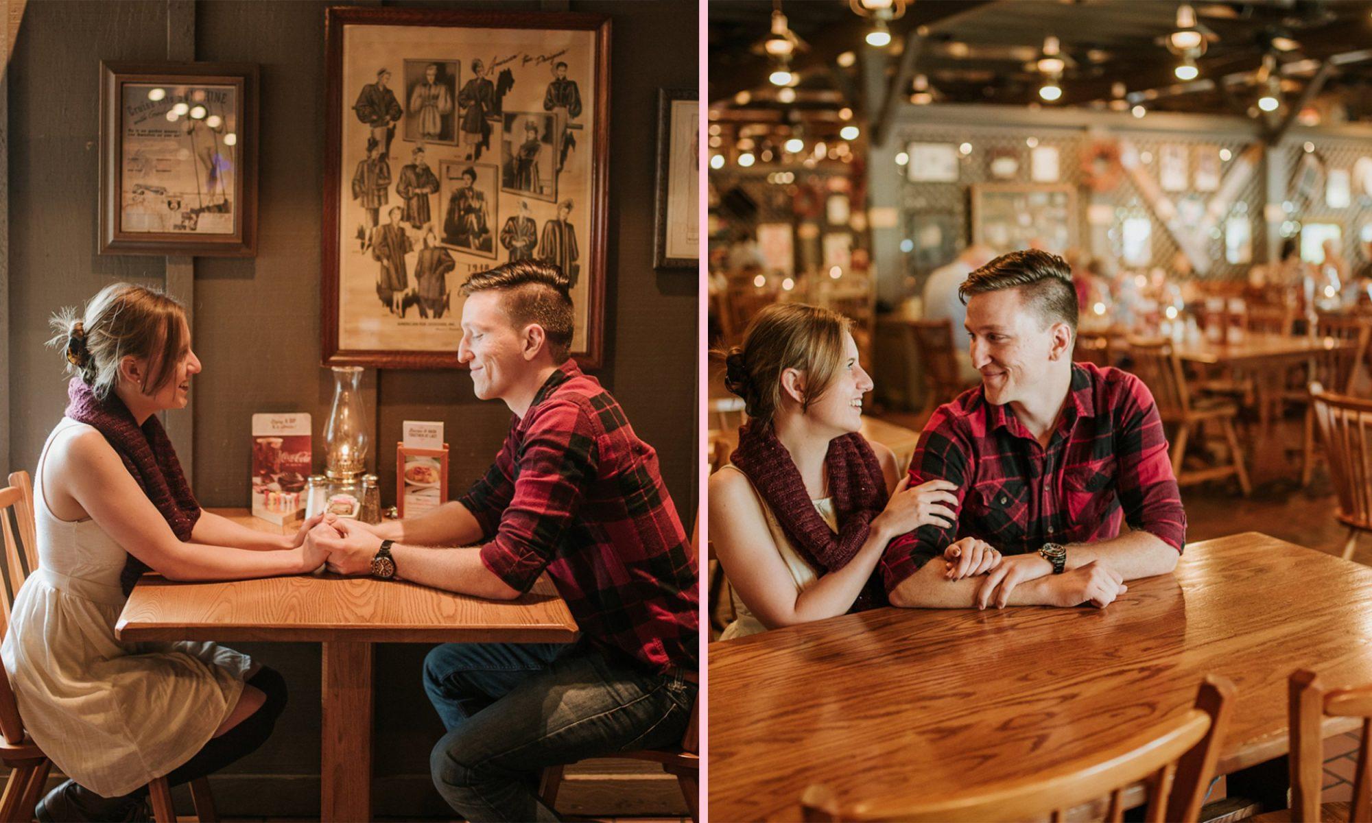 EC: This Couple Shot Their Engagement Photos at a Cracker Barrel