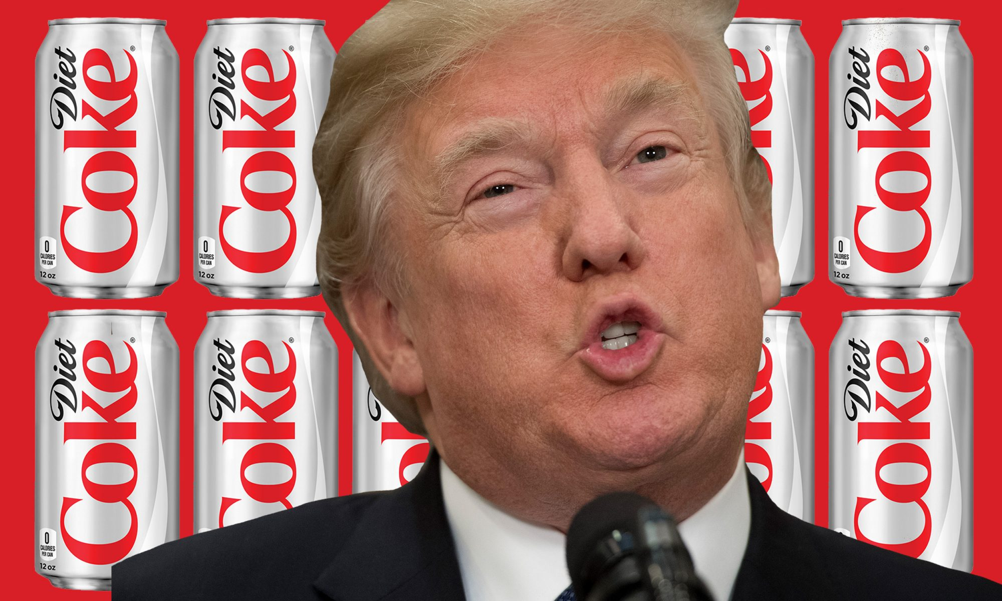EC: Donald Trump Drinks 12 Diet Cokes a Day, Says Report