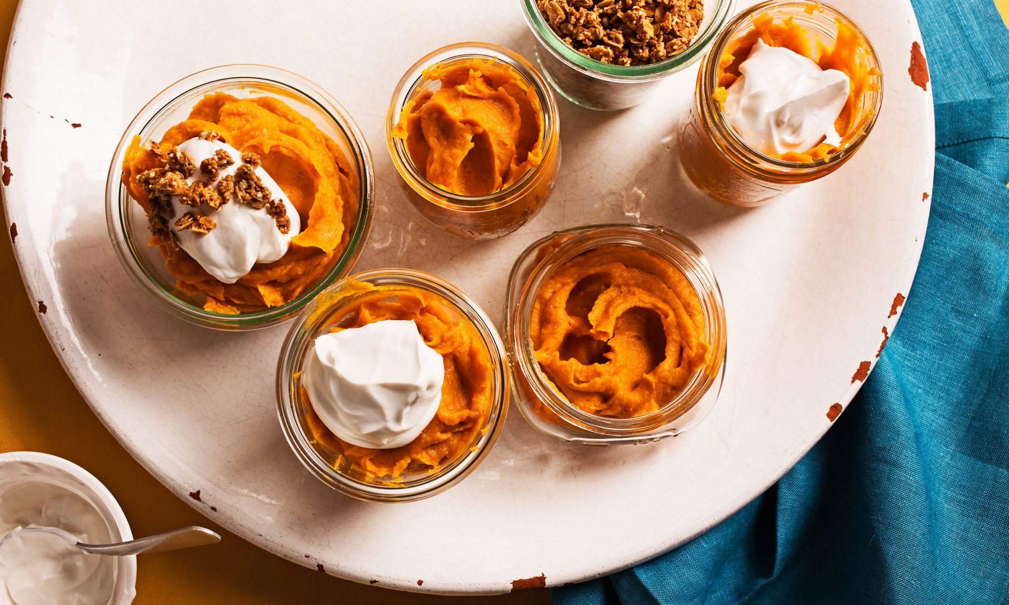 friendsgiving sweet potato pumpkin pudding hero