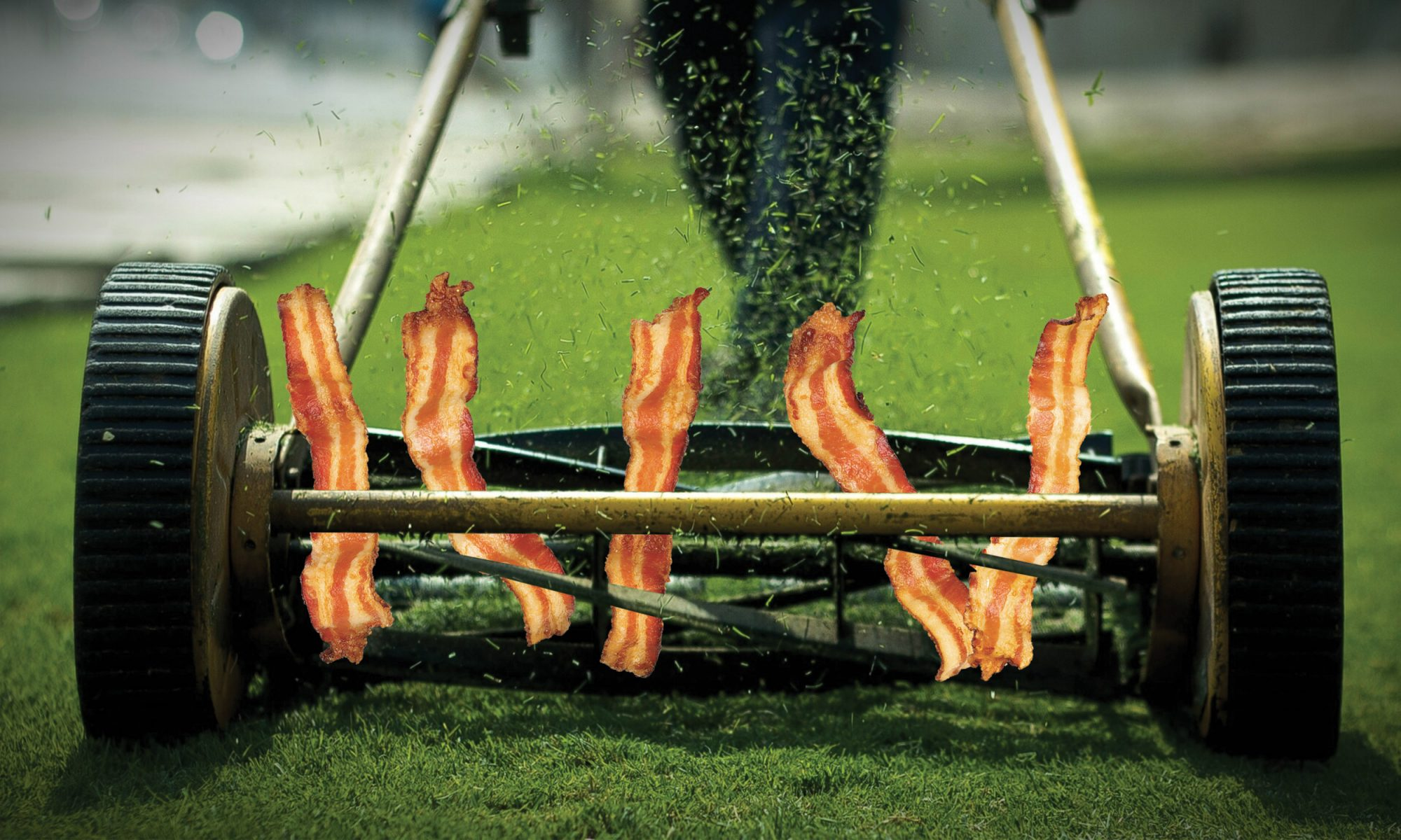 How to Cook Bacon With a Lawnmower