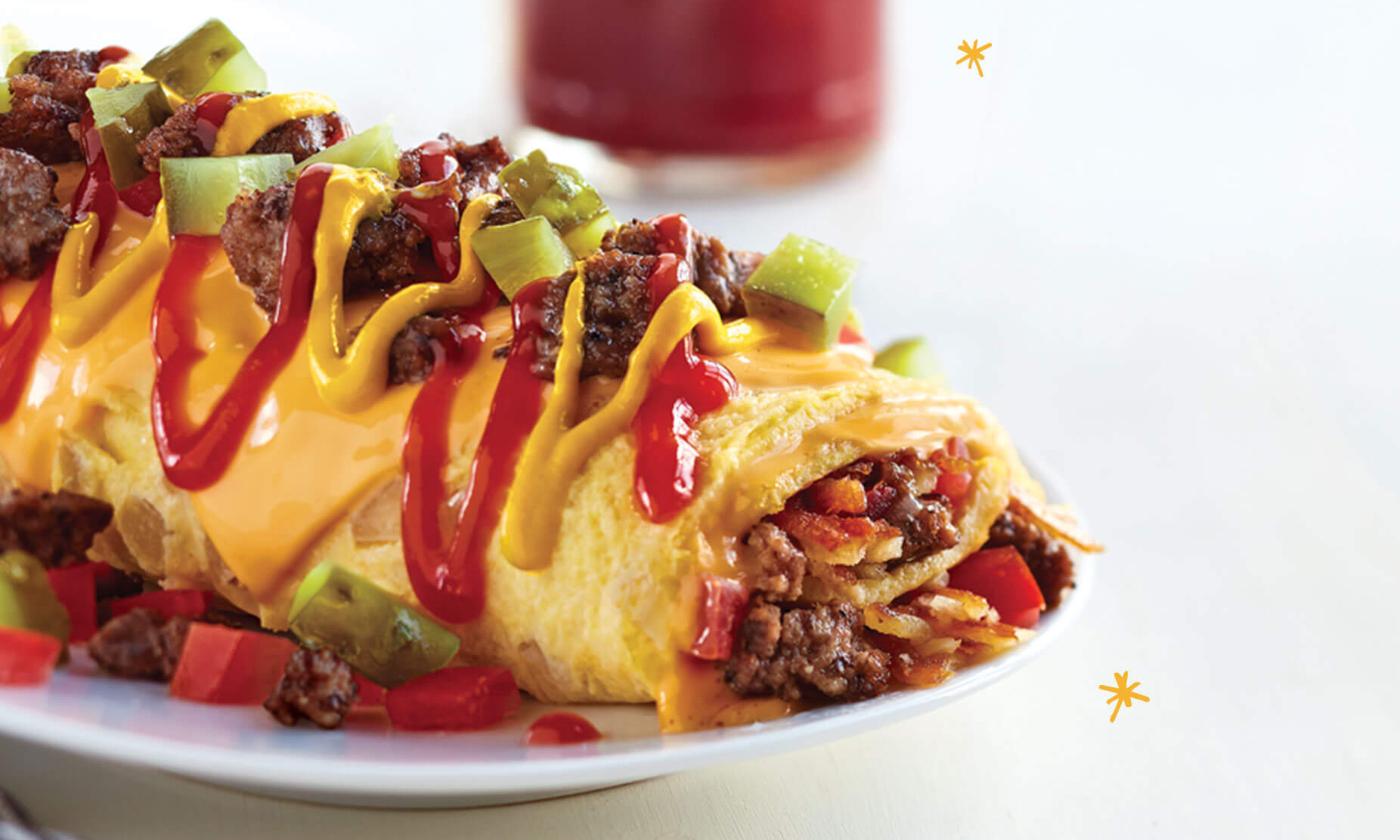 IHOP cheeseburger omelet