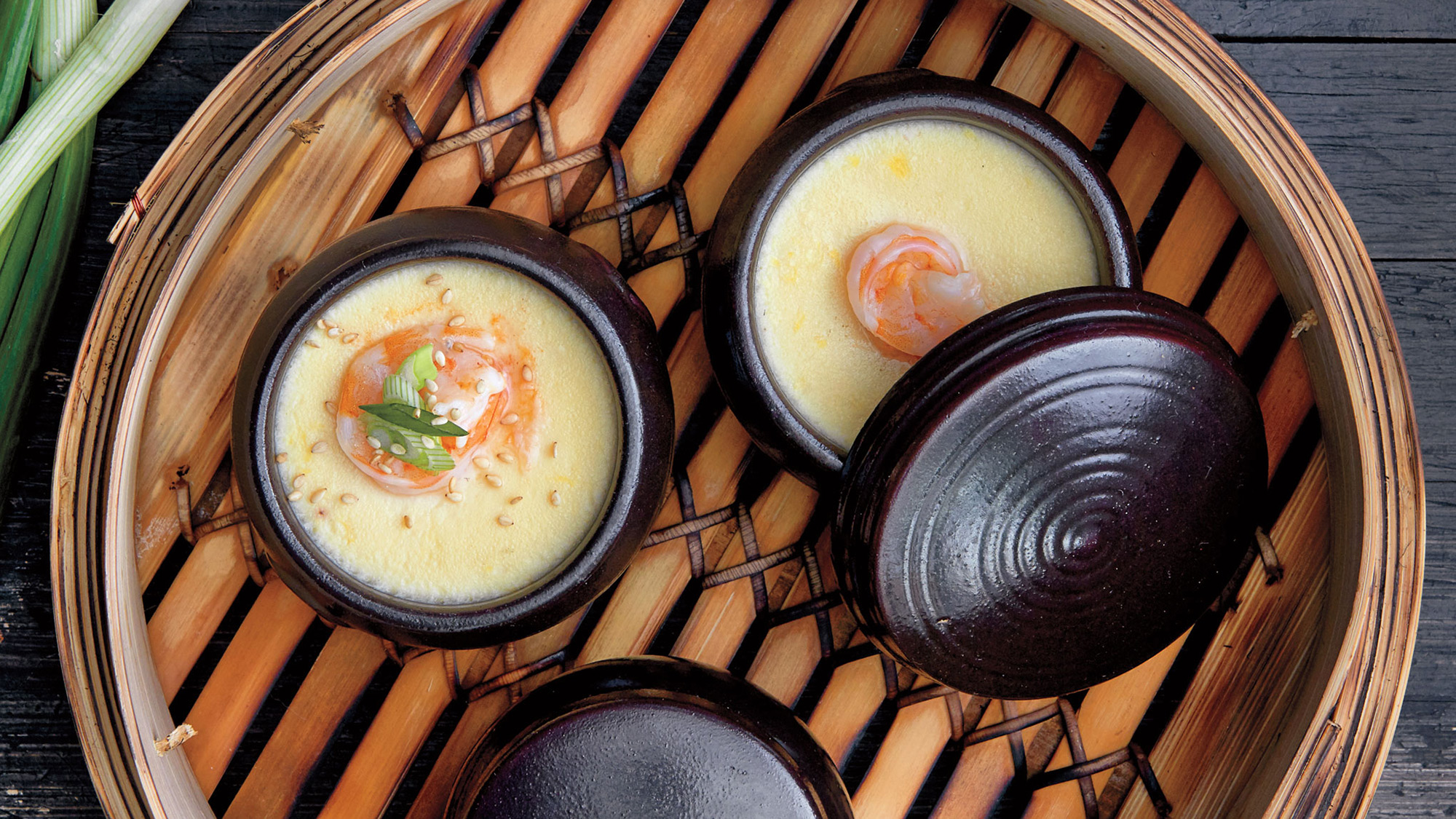 Judy Joo Makes Korean Egg Custard