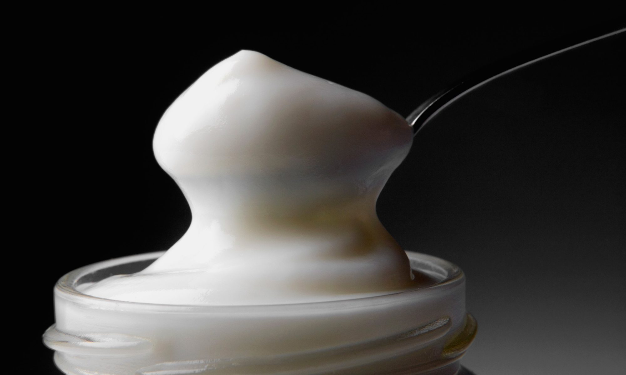 mayonnaise and spoon