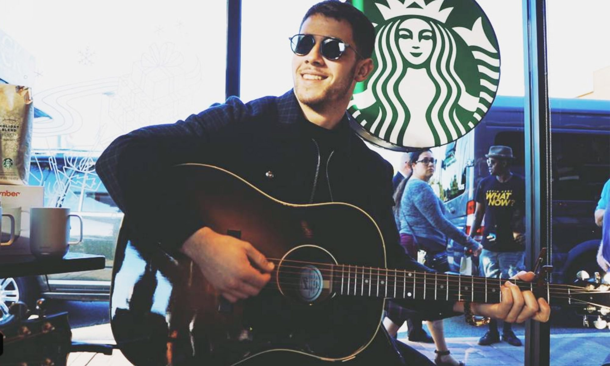 EC: Nick Jonas Played Some Tunes at Starbucks Over the Weekend