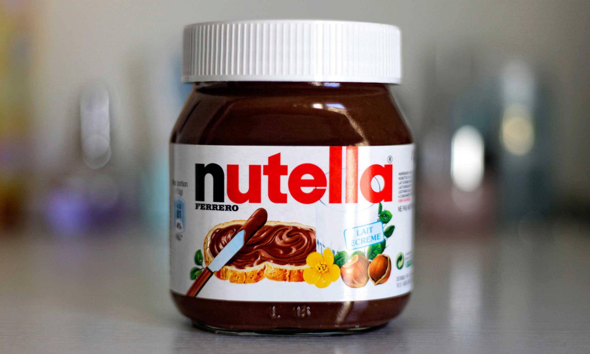 Closed jar of Nutella