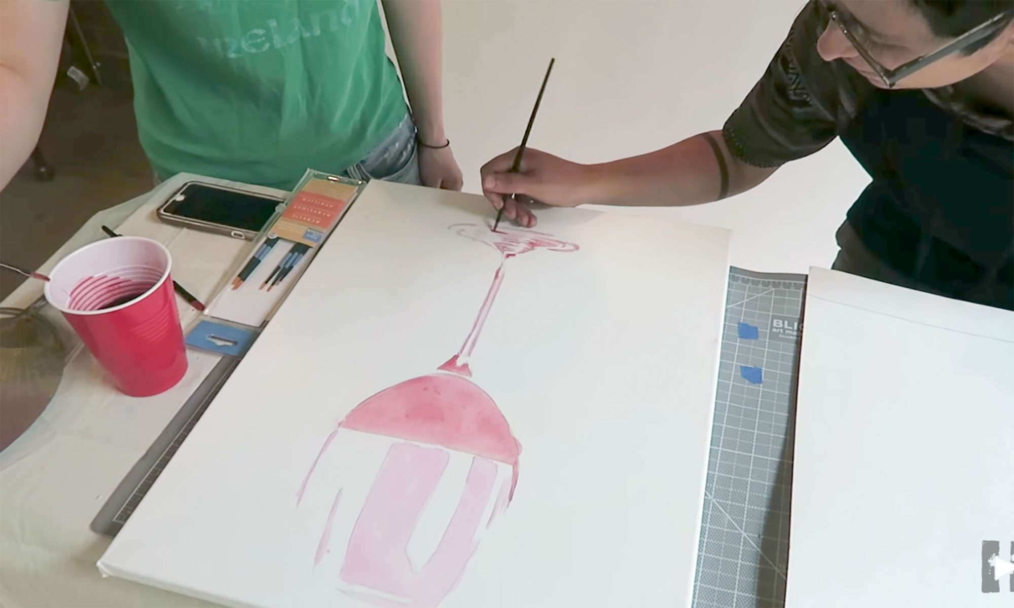 EC: How to Paint with Red Wine
