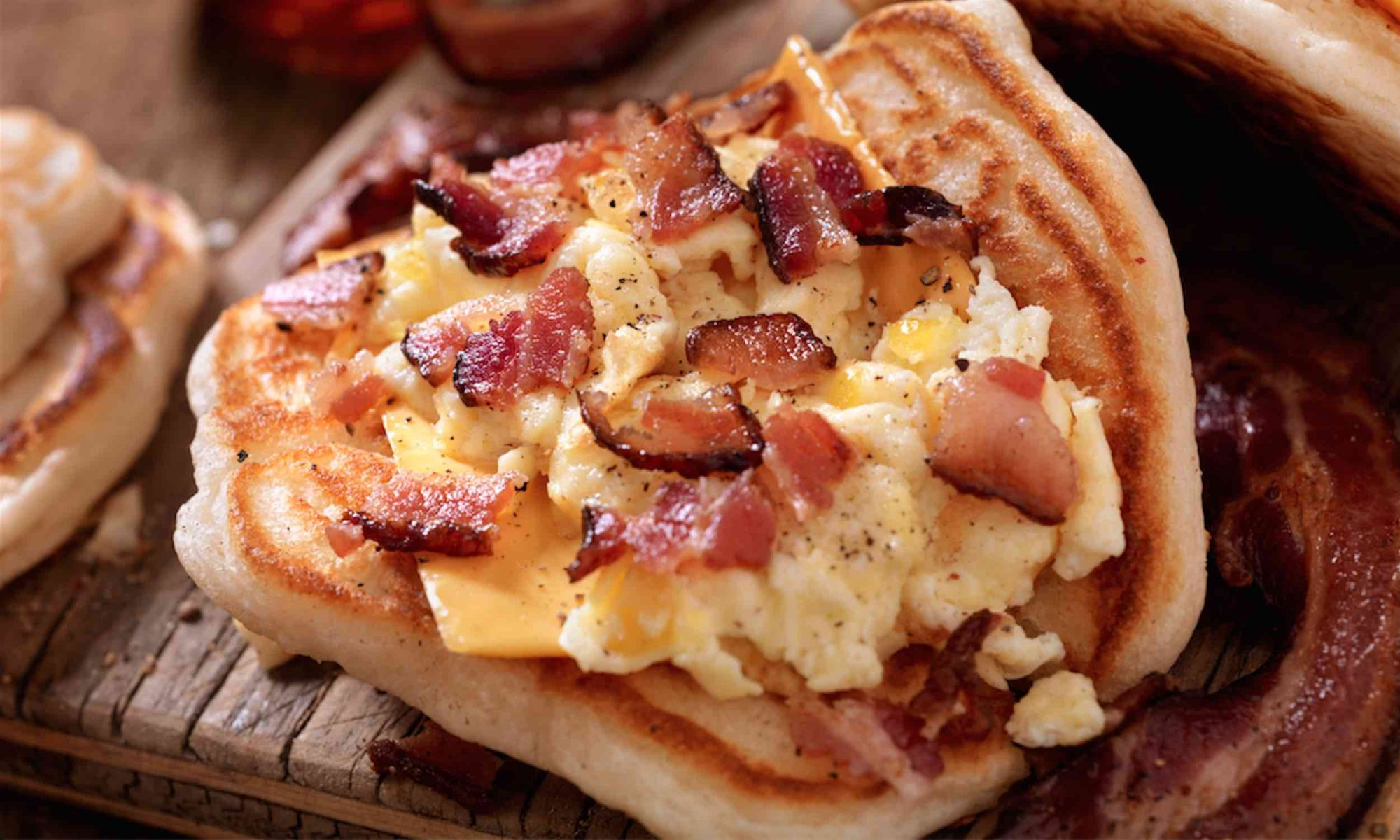 pancake breakfast taco
