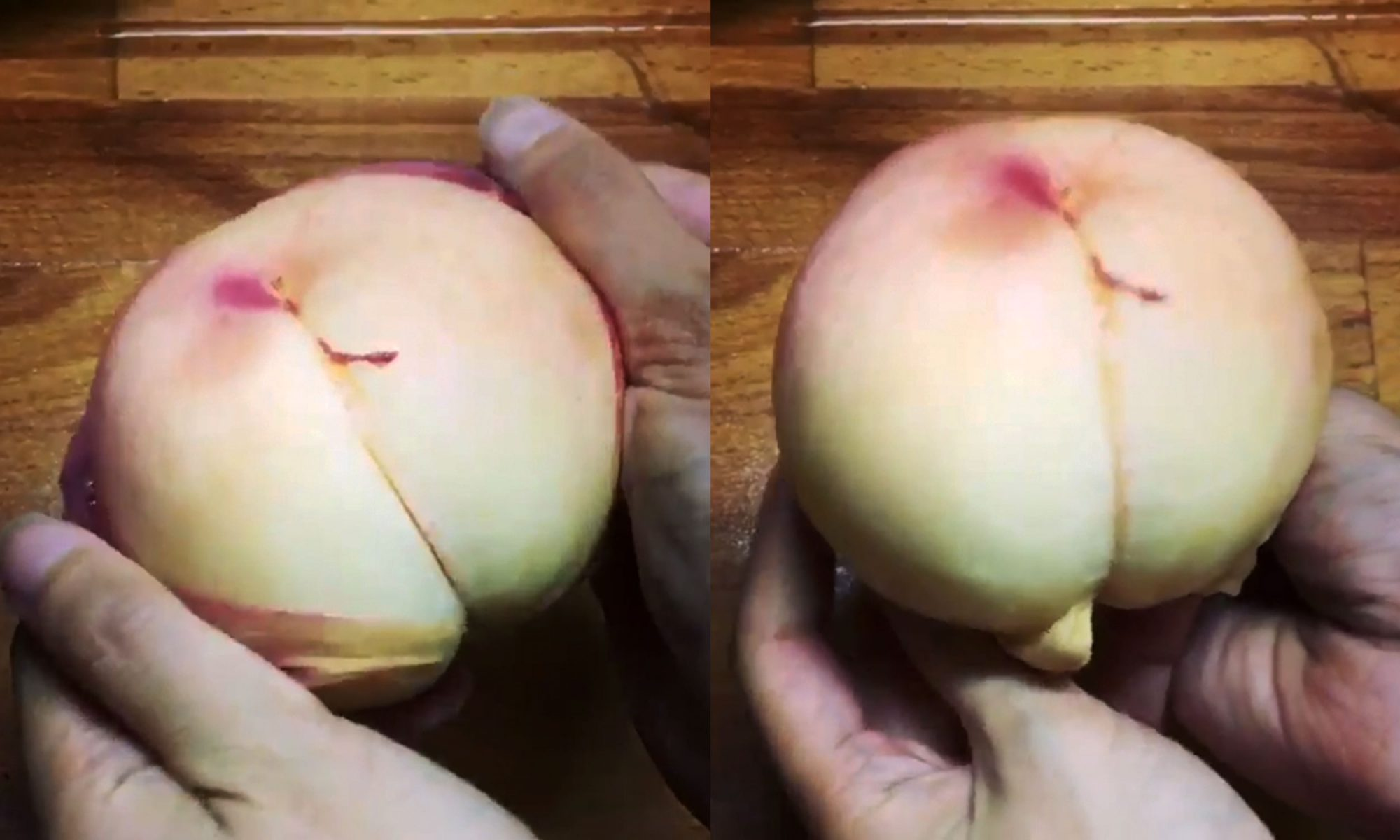 EC: How to Peel a Peach Without a Knife in Less Than 5 Seconds