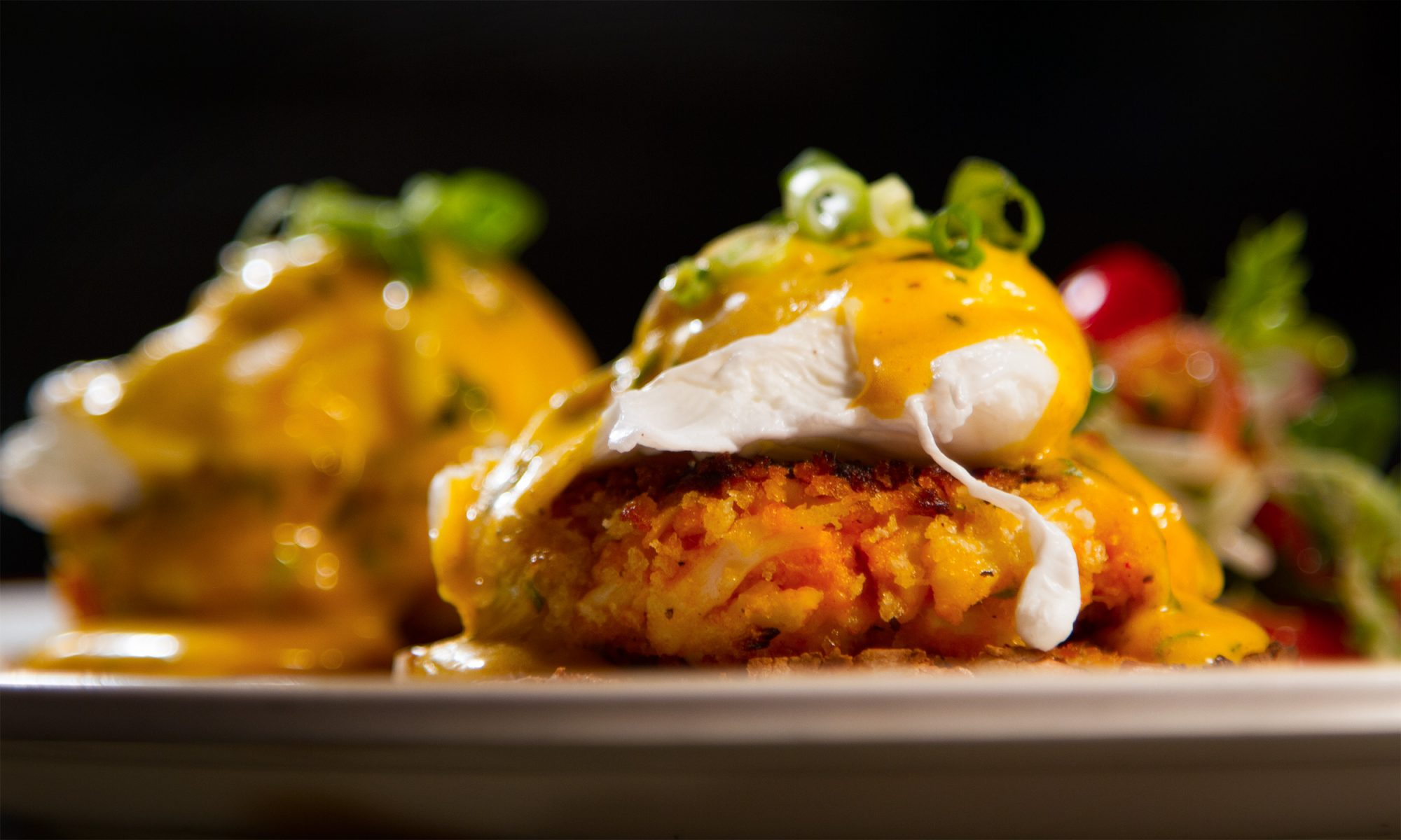 This Eggs Benedict with Crab Cakes and Old Bay Hollandaise Is Peak Maryland
