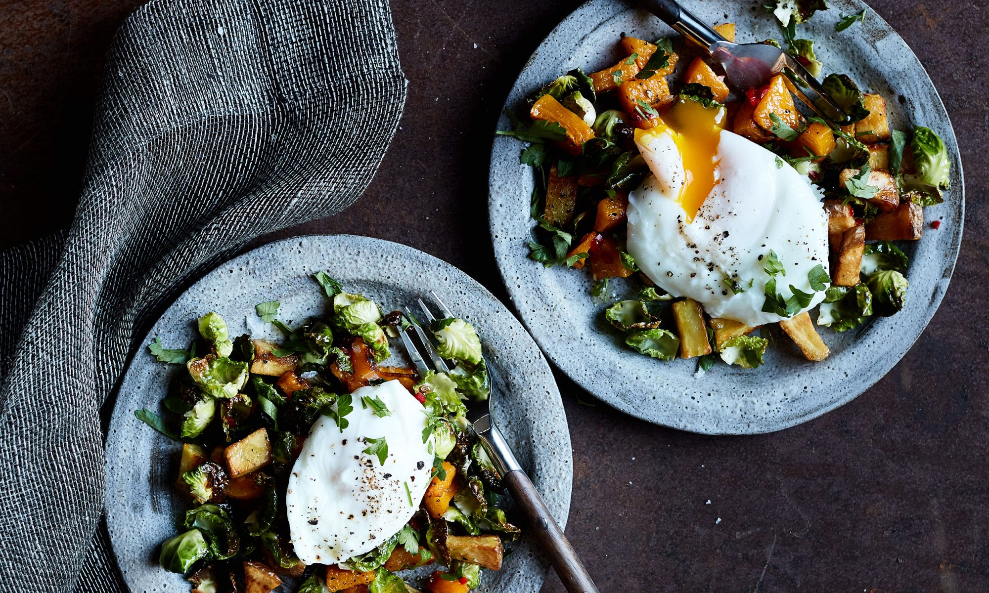 EC: Roast Pumpkin and Brussels Sprouts for Breakfast