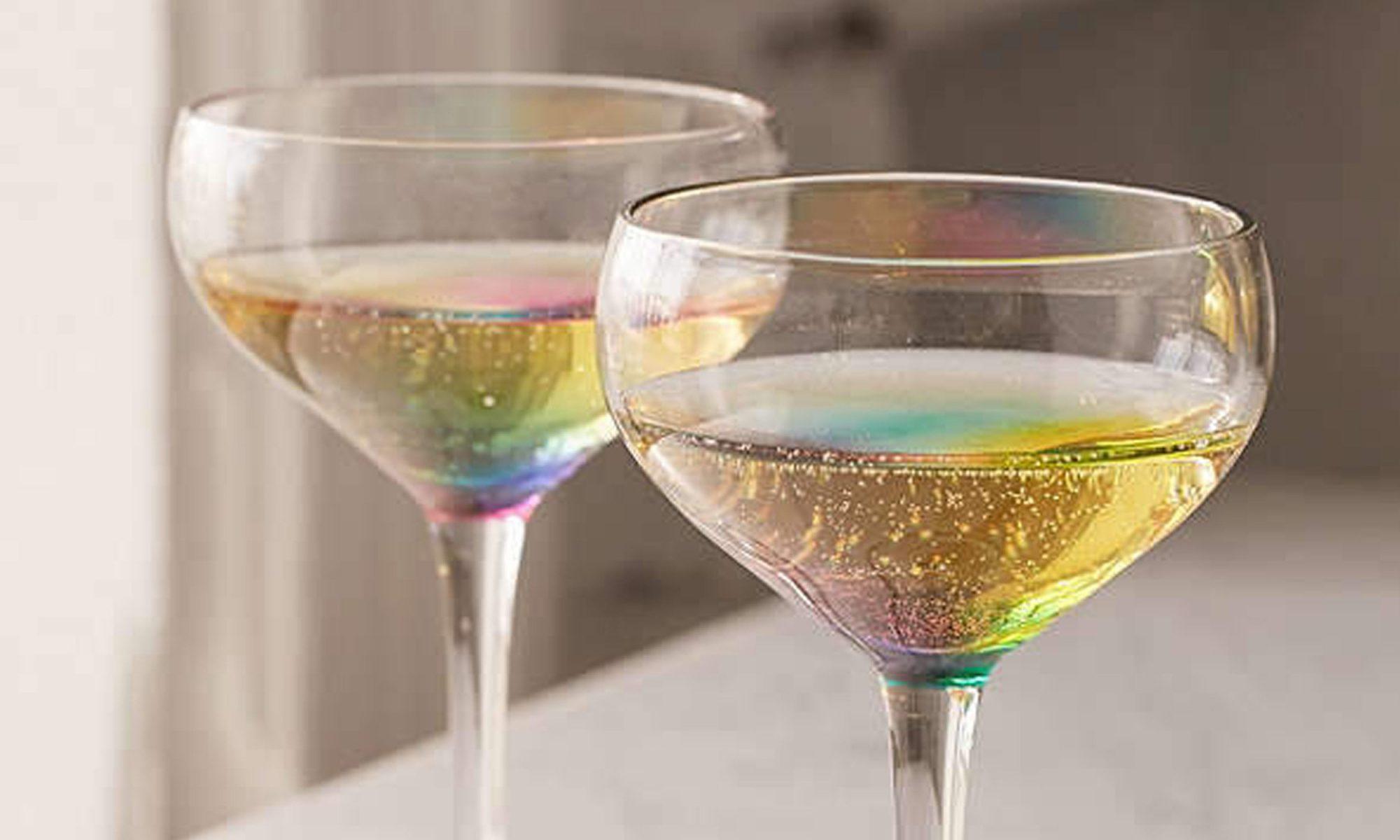 rainbow coupe glasses