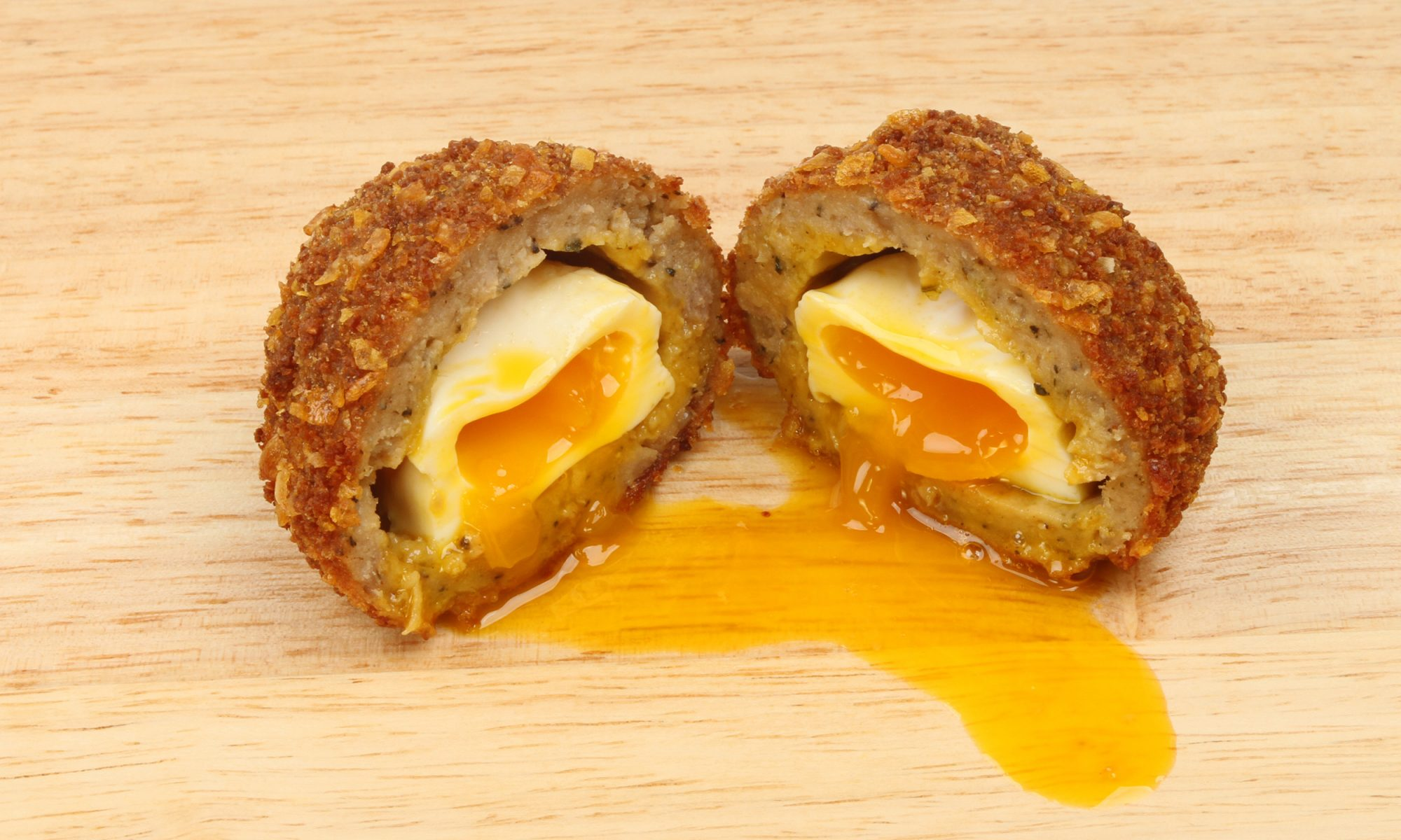 Scotch egg split open
