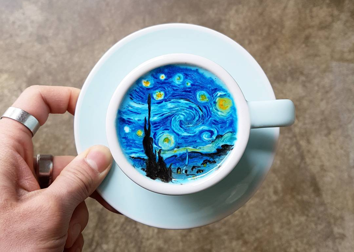 EC: This Barista Makes Latte Art That's Way Too Pretty to Drink