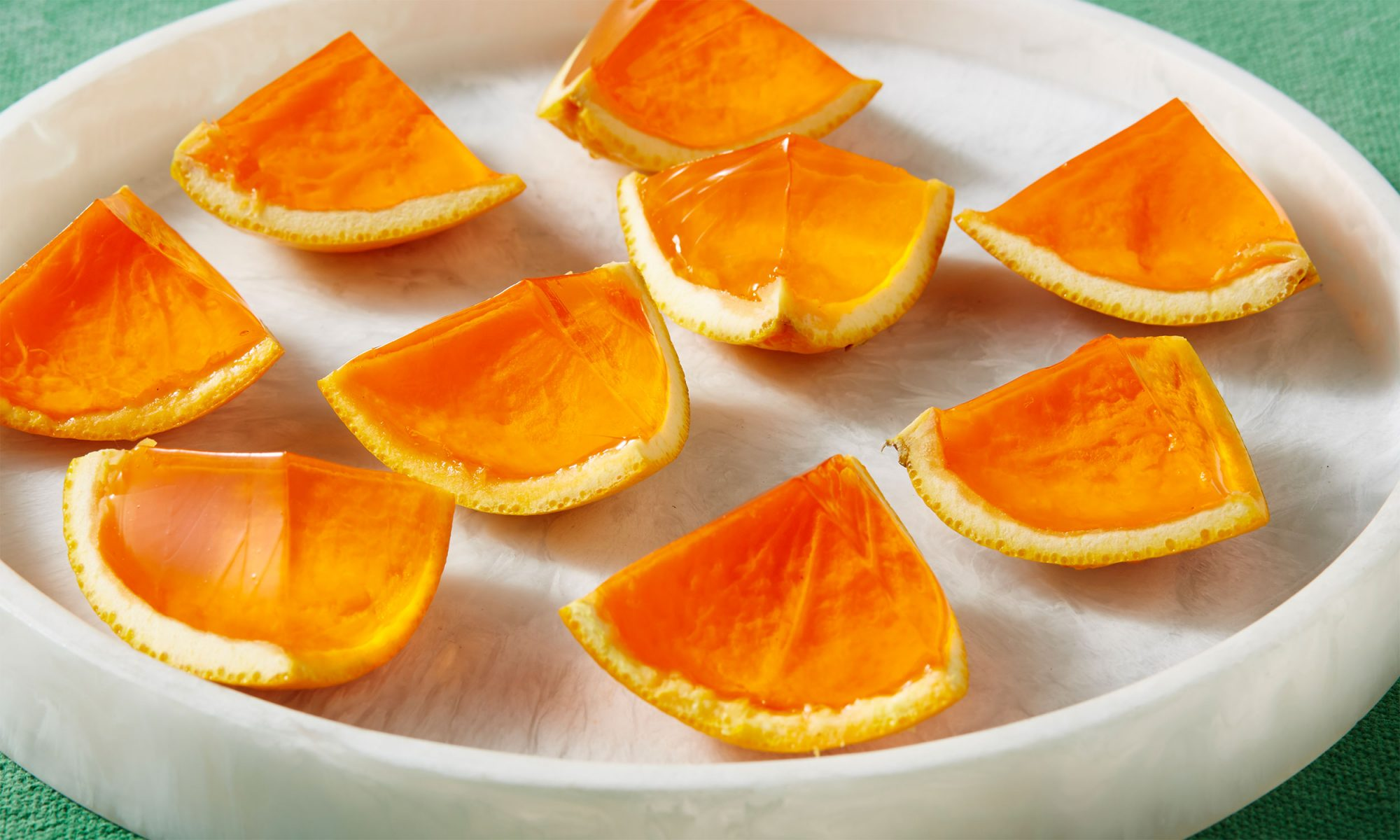 Screwdriver Jello Shots in Orange Peels