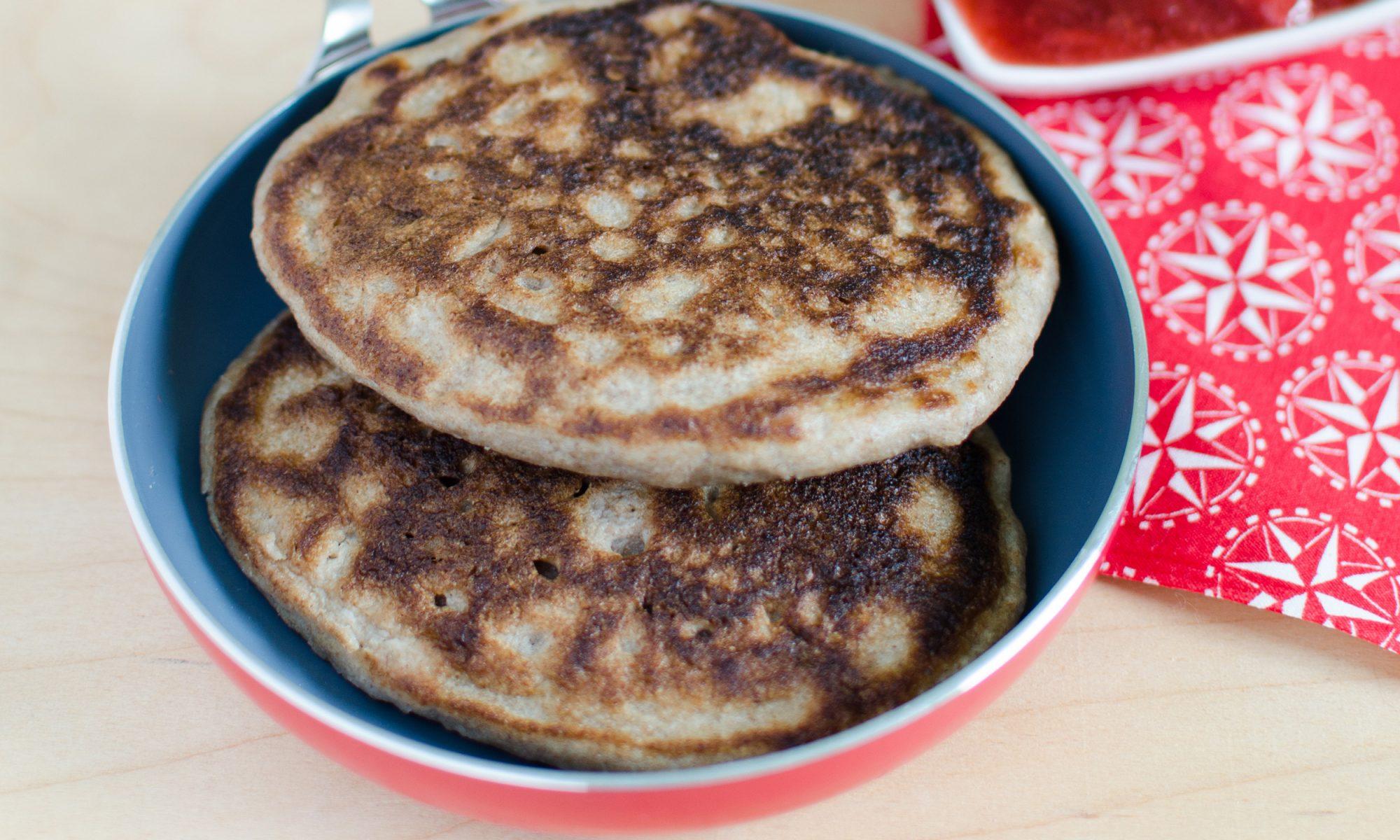 Sourdough Buckwheat Pancakes with Sausage Gravy