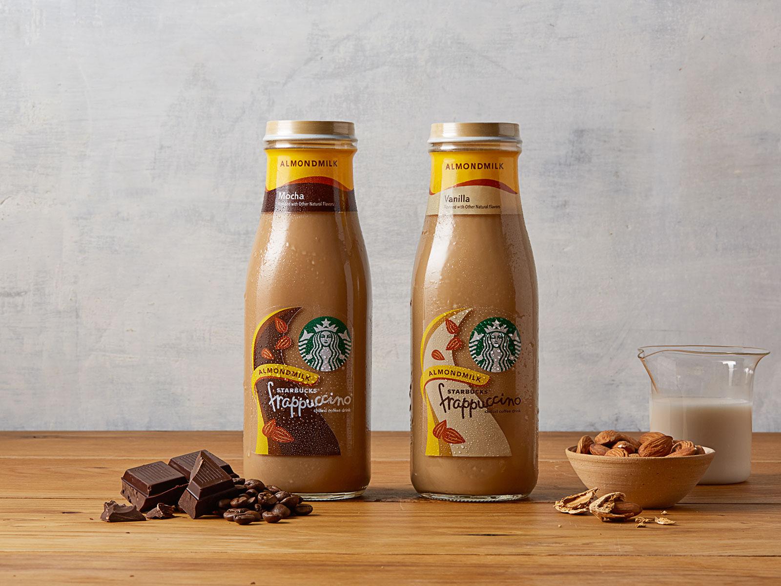almond milk frap from starbucks