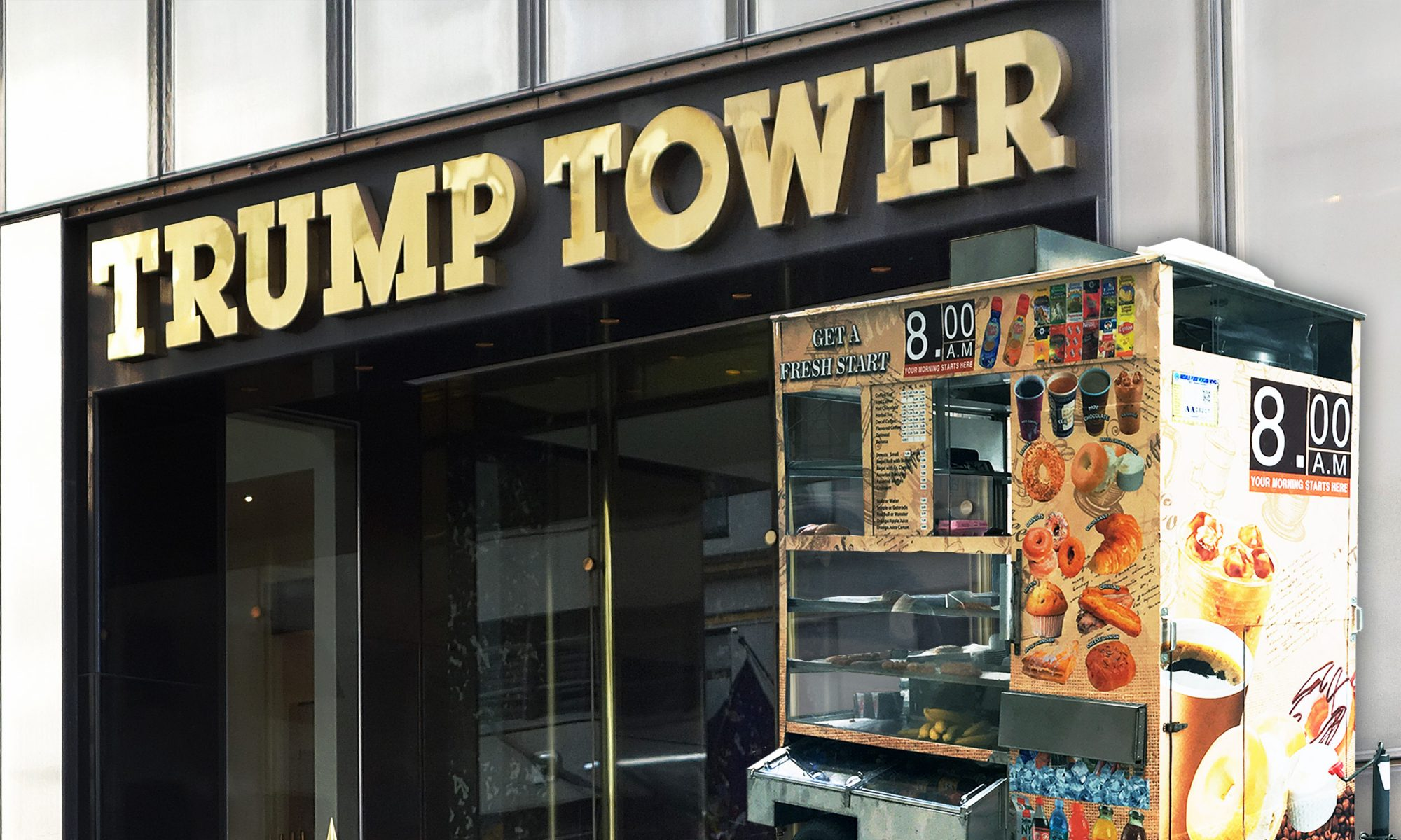 Trump tower food carts
