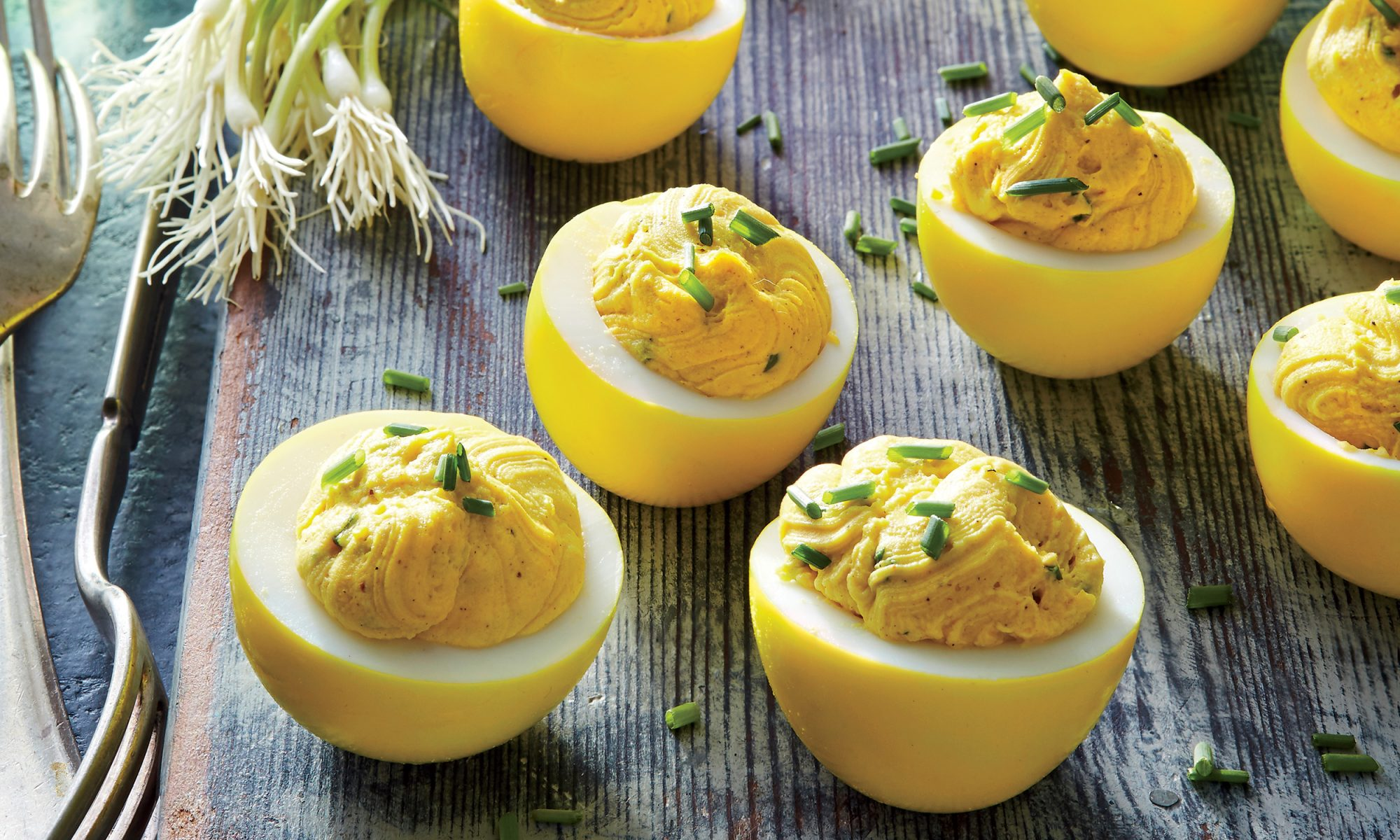 How to Make Turmeric-Pickled Deviled Eggs