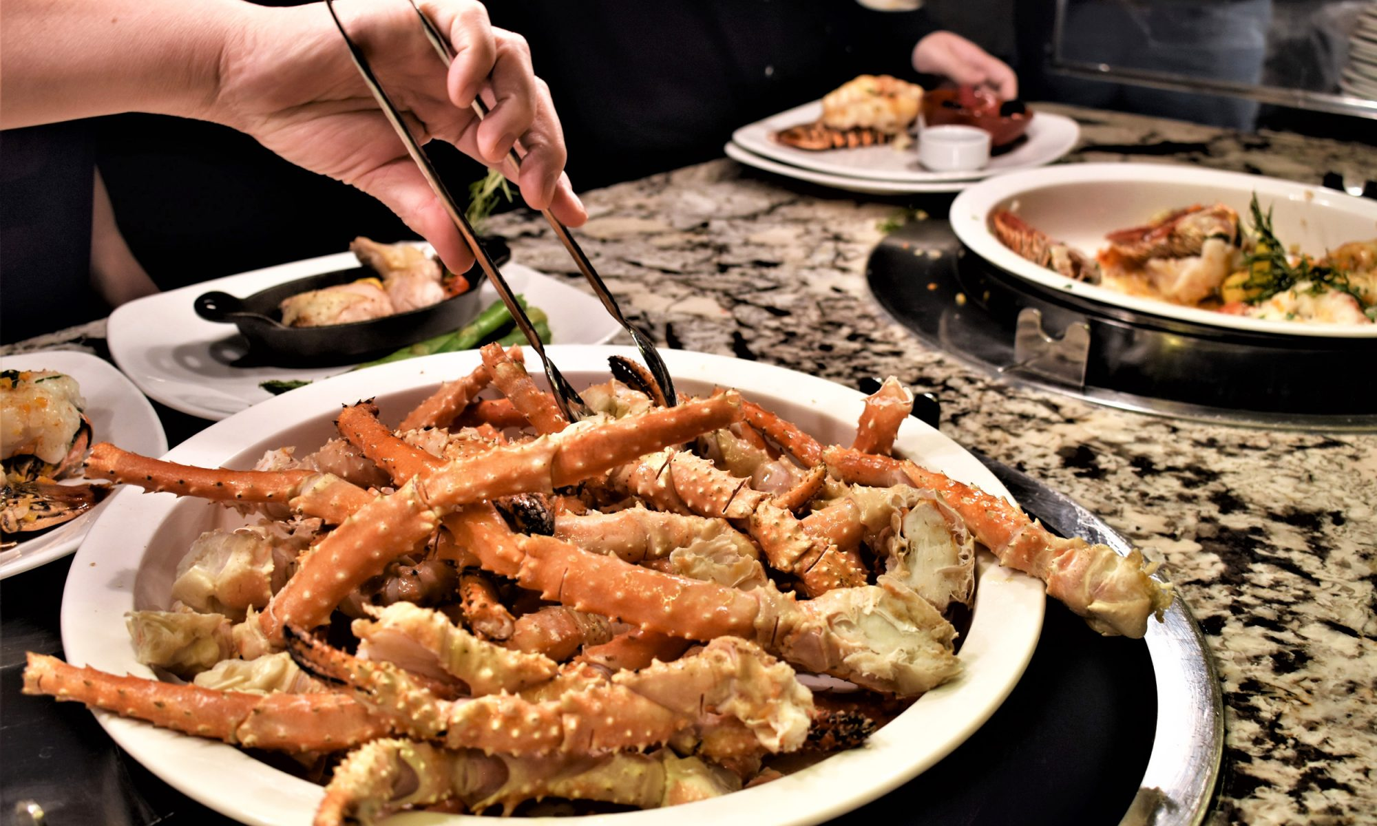 crab legs at the bally's sterling brunch buffet